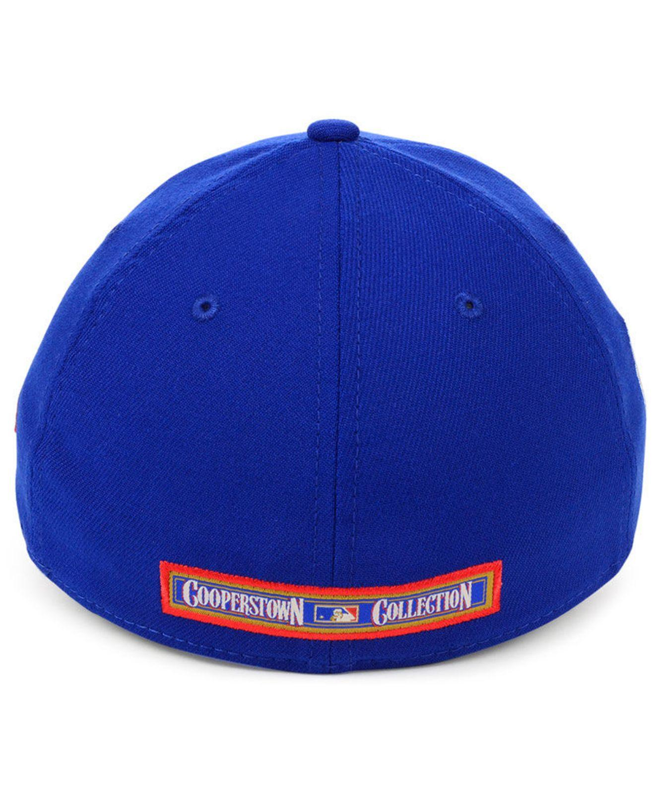 new concept dc6cc 1ee7a KTZ Atlanta Braves Cooperstown Collection 39thirty Cap in Blue for Men -  Lyst
