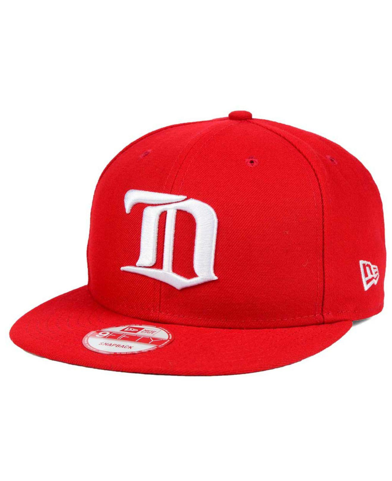 29fb9ddd545 Lyst - KTZ Detroit Red Wings All Day 9fifty Snapback Cap in Red for Men