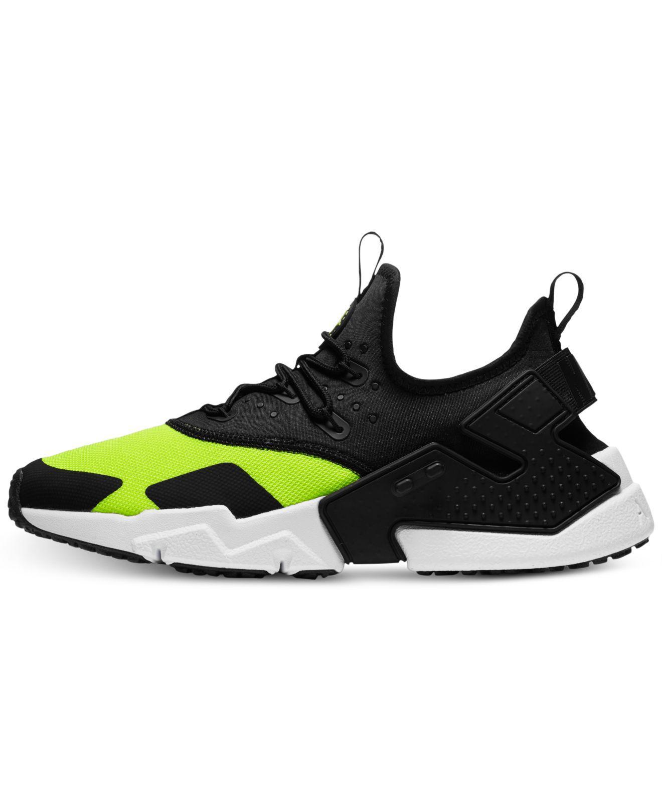 9db25d8d0b926 ... spain lyst nike air huarache run drift casual sneakers from finish line  in black for men