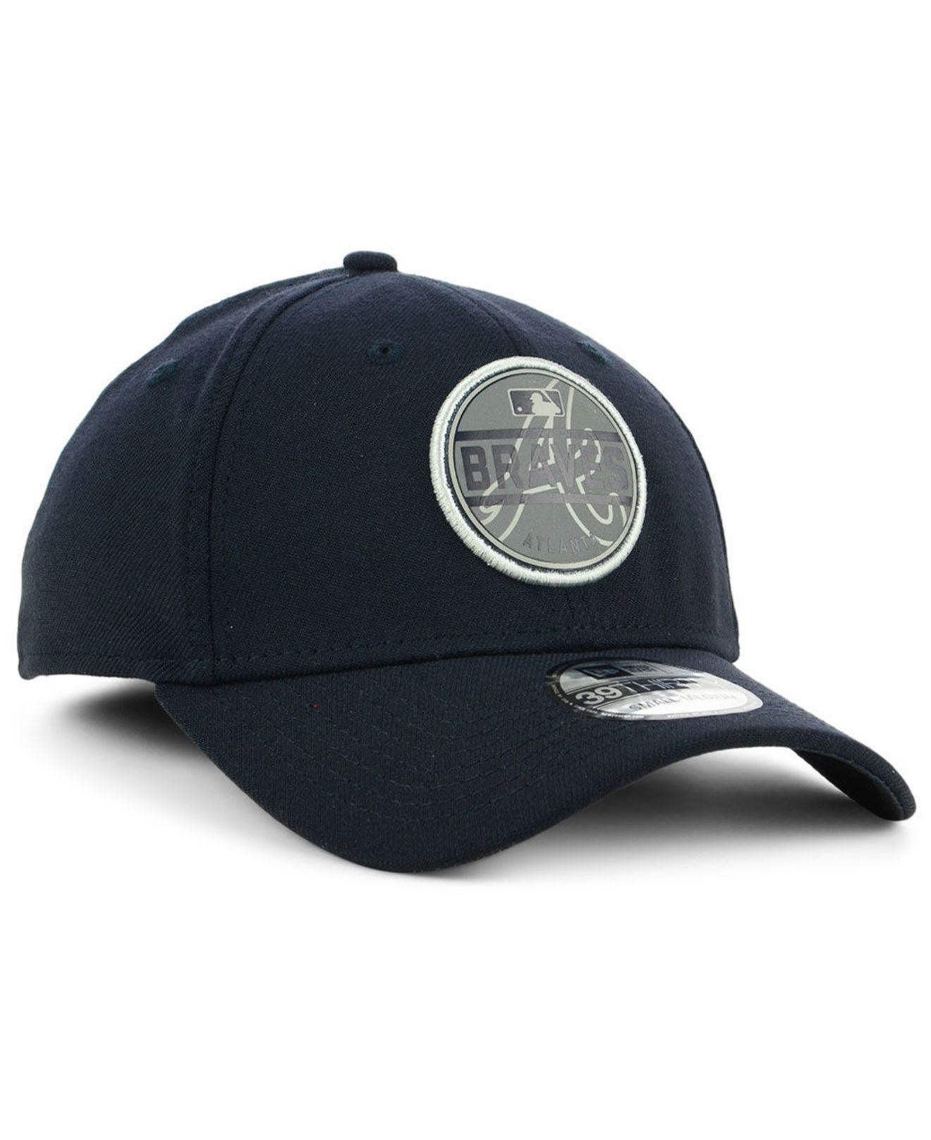 the best attitude 5034b 93e35 ... ireland atlanta braves circle reflect 39thirty stretch fitted cap for men  lyst. view fullscreen f42ce