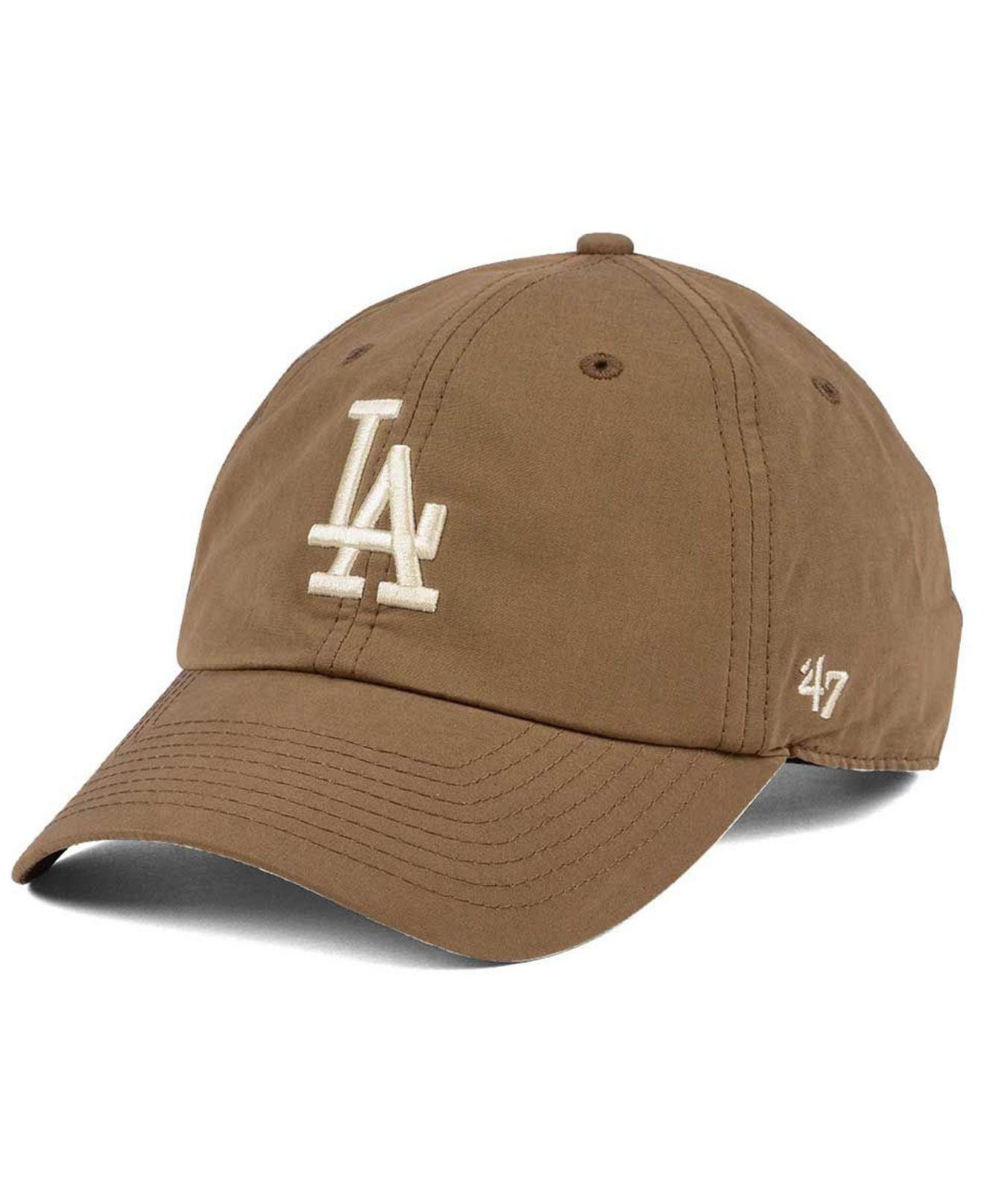c50bbee7ca6b2 ... new arrivals lyst 47 brand los angeles dodgers harvest clean up cap in  brown 4df2b 4c6fe