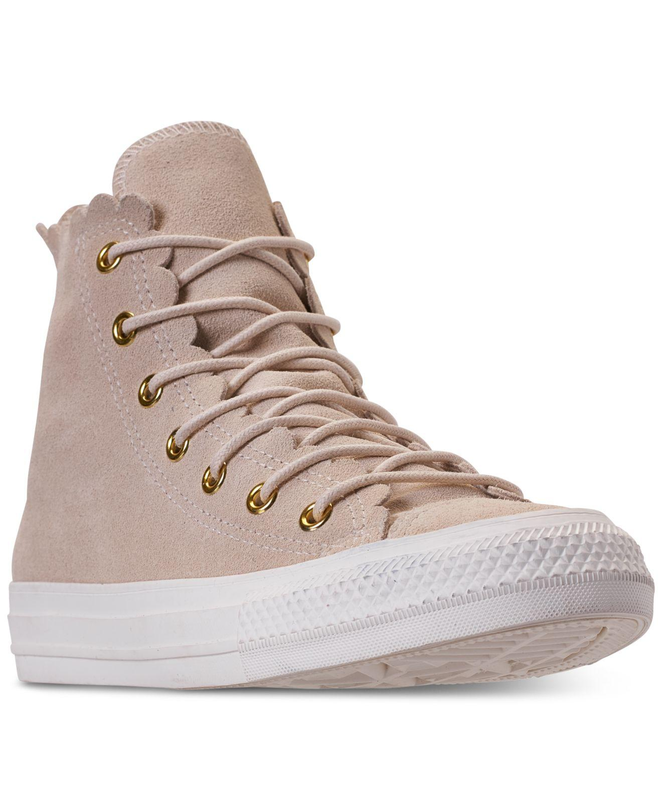 a53138f28e4eba Lyst - Converse Chuck Taylor All Star Scallop Natural - Save 28%