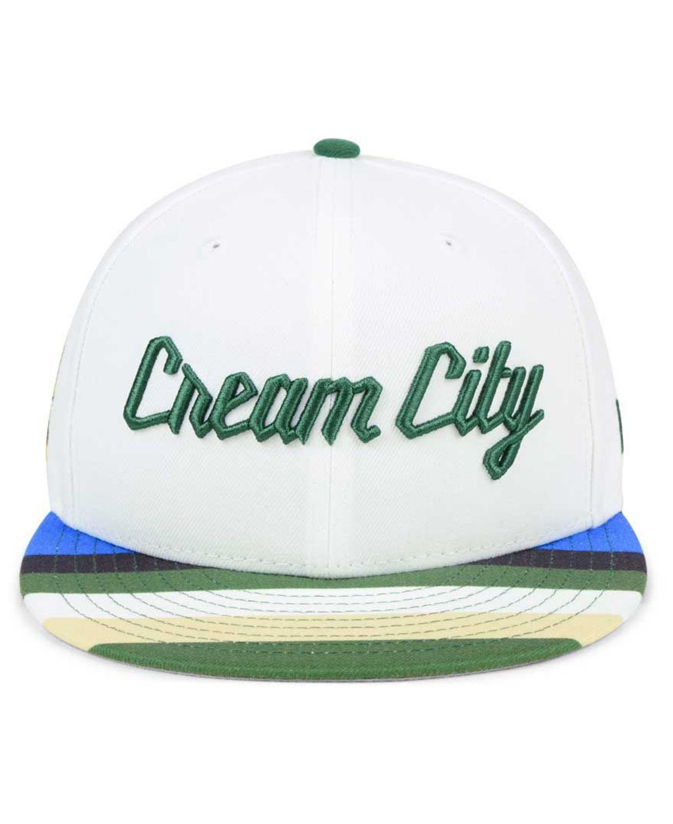 best service c6b7b 32a8b ... france lyst ktz milwaukee bucks city series 9fifty snapback cap in  white for men efc29 b2432