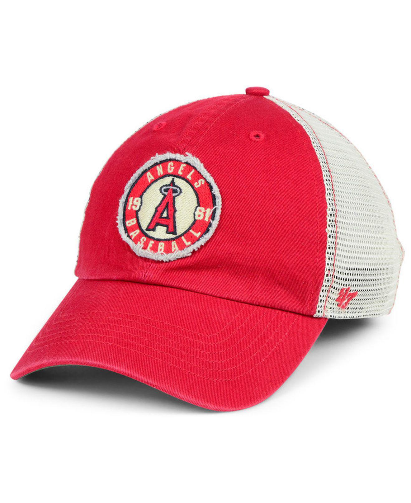 97c6551b8d36d ... cheap 47 brand. mens red los angeles angels tally closer stretch fitted  cap 905f2 2b3de