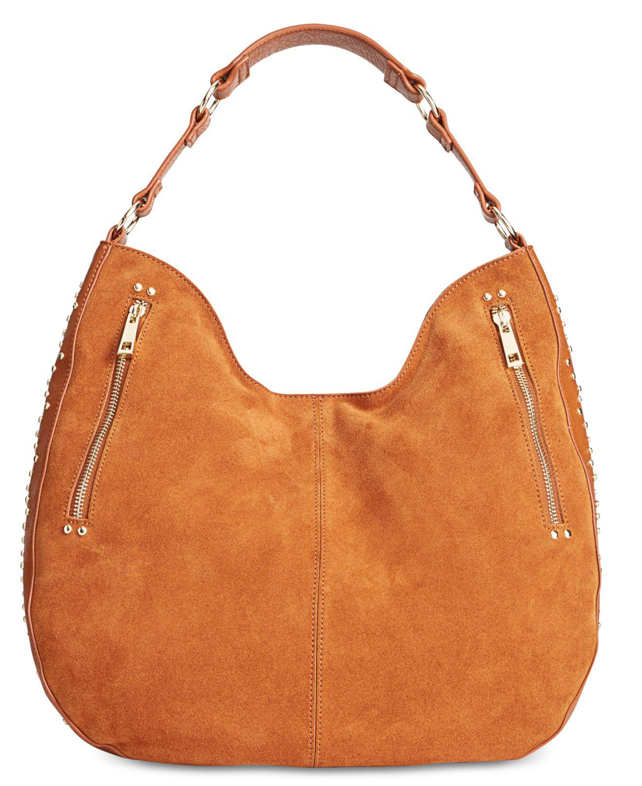 1393aa2b313 Lyst - INC International Concepts Delaney Large Stud Hobo in Brown