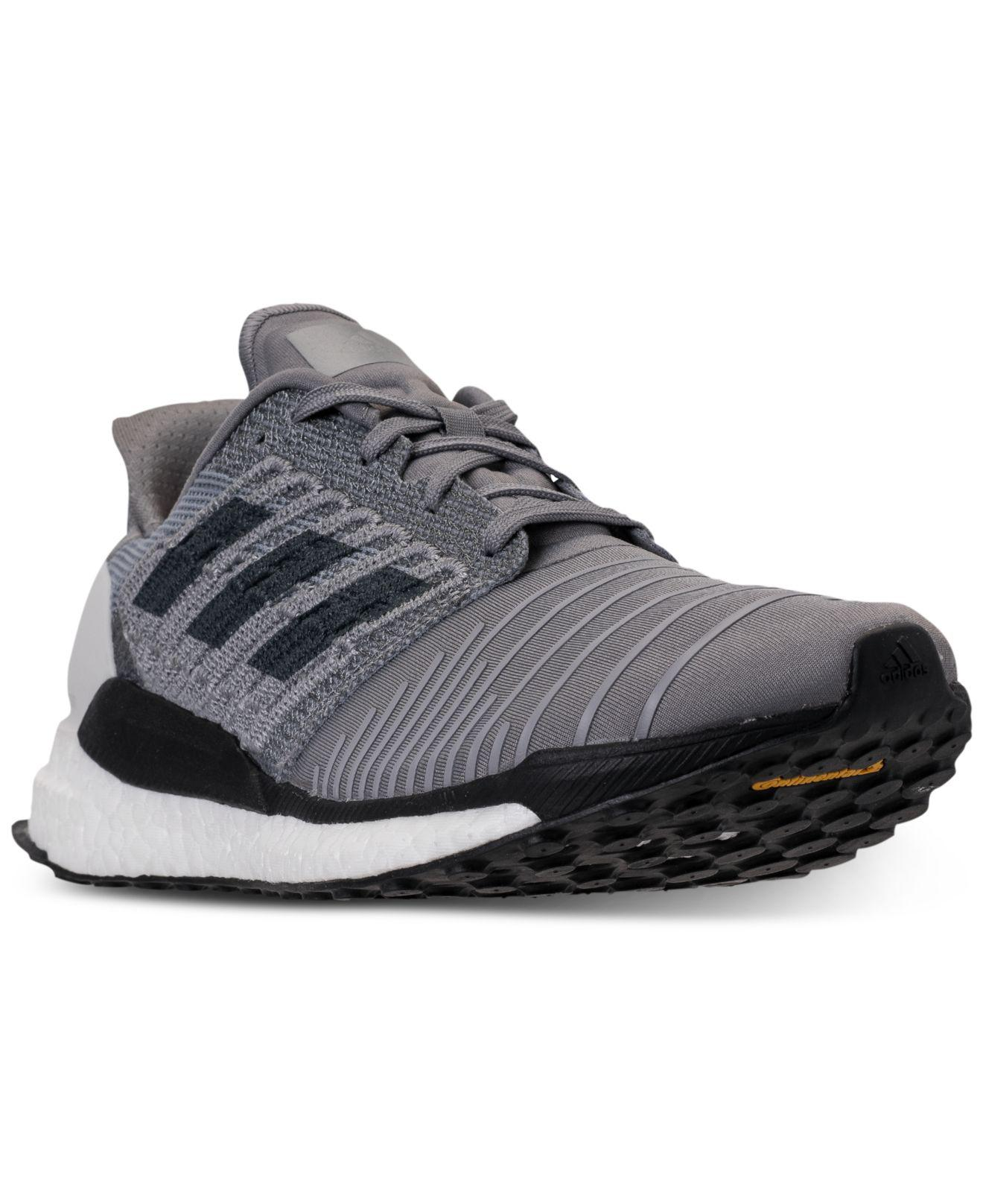 a82580af1300b Lyst - adidas Solar Boost Running Sneakers From Finish Line in Gray ...