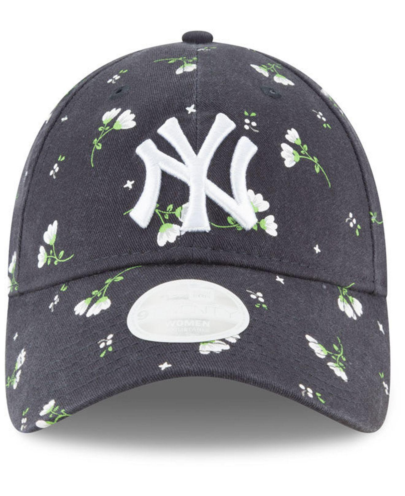 2dec683d ... denmark lyst ktz new york yankees blossom 9twenty cap in blue 459a4  71e00