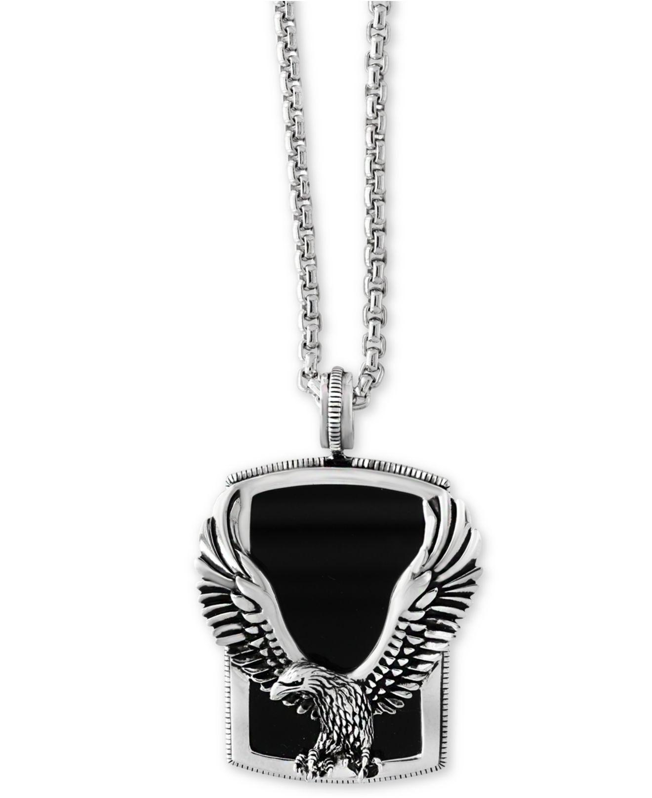 pin eagle necklace tone silver pendant gold blackjack