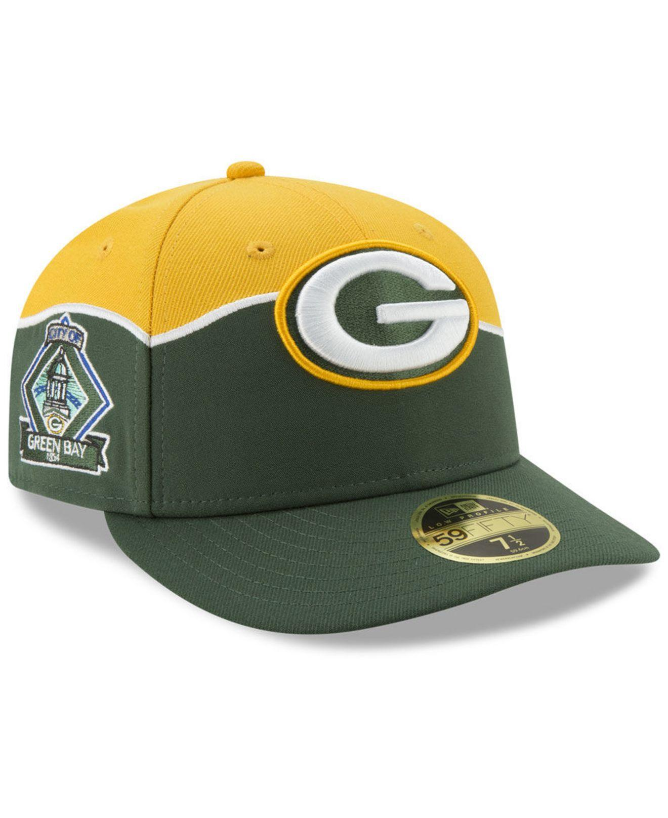 4ed79e6e Lyst - KTZ Green Bay Packers Draft Low Profile 59fifty-fitted Cap in ...