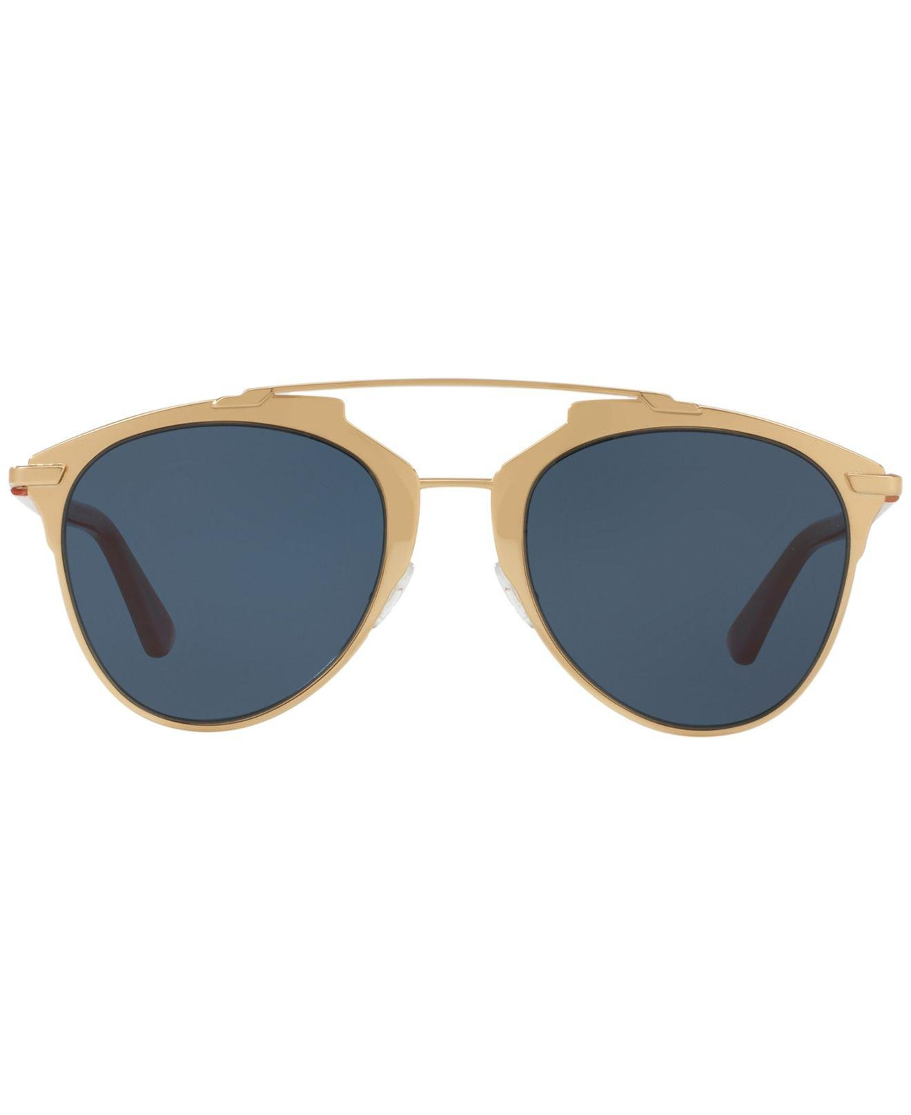 b45f23338c Lyst - Dior Women s Reflected Mirrored Brow Bar Aviator Sunglasses in Blue