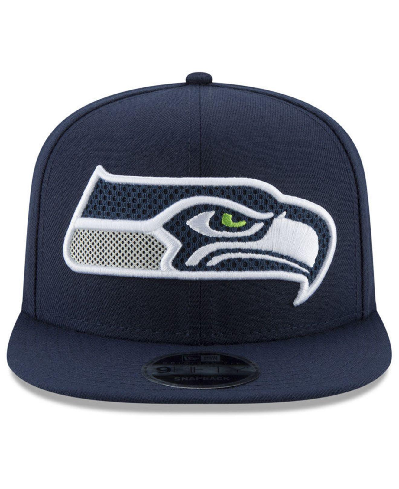 2cb7a2dcbf9 Lyst - Ktz Seattle Seahawks Meshed Mix 9fifty Snapback Cap in Blue for Men