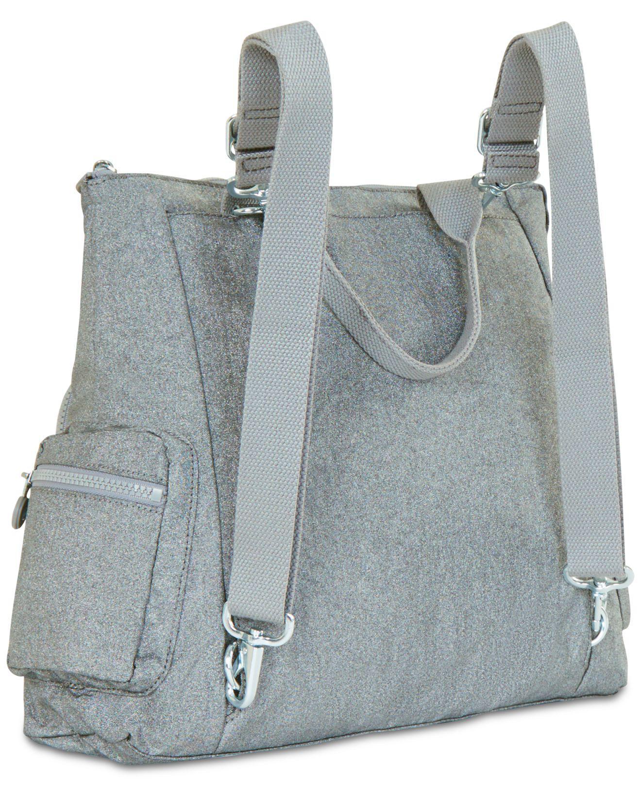5867bb6d4d06 Lyst - Kipling Alvy 2-in-1 Convertible Tote Bag Backpack in Metallic