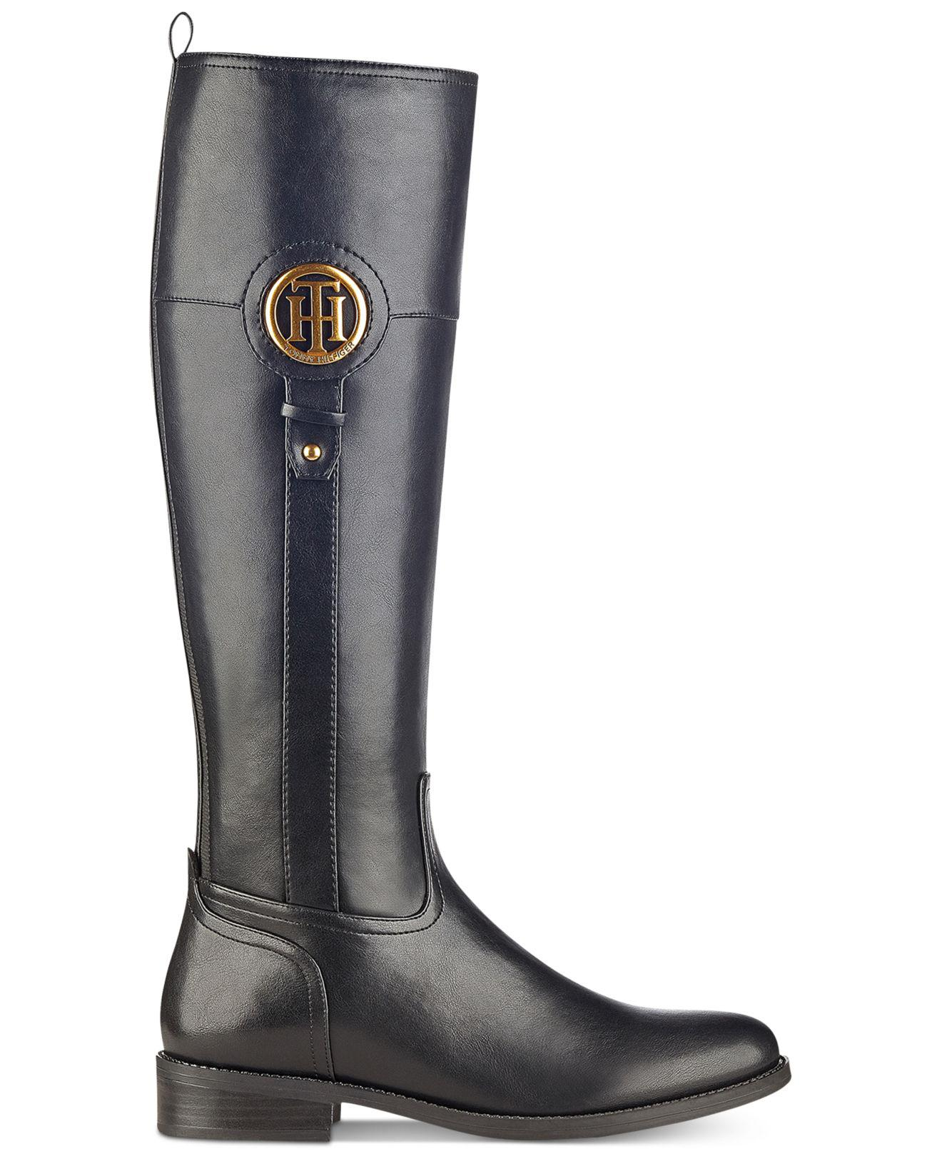 1e380f22 Lyst - Tommy Hilfiger Ilia2 Riding Boots in Black - Save 77.06422018348624%