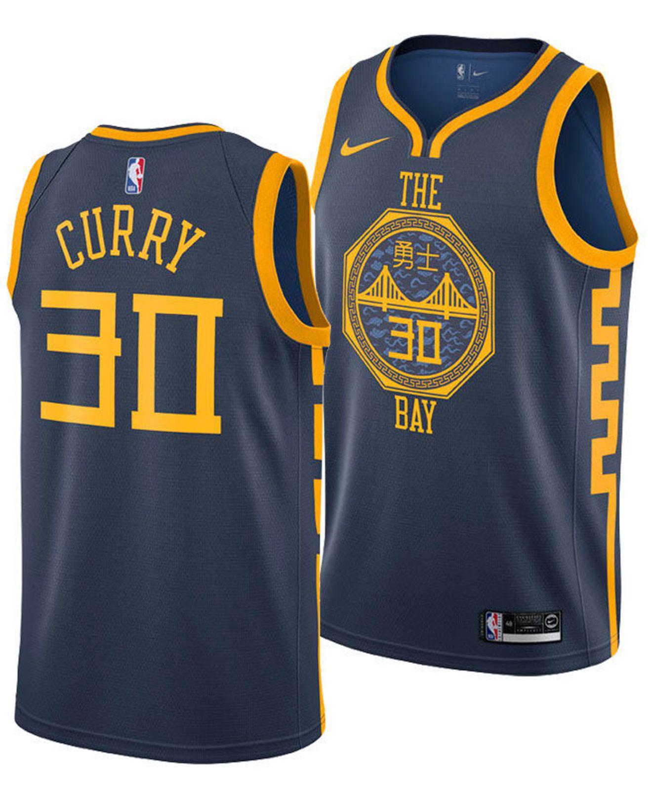 5e1a893e722 Nike. Men s Blue Stephen Curry Golden State Warriors City Swingman Jersey  2018