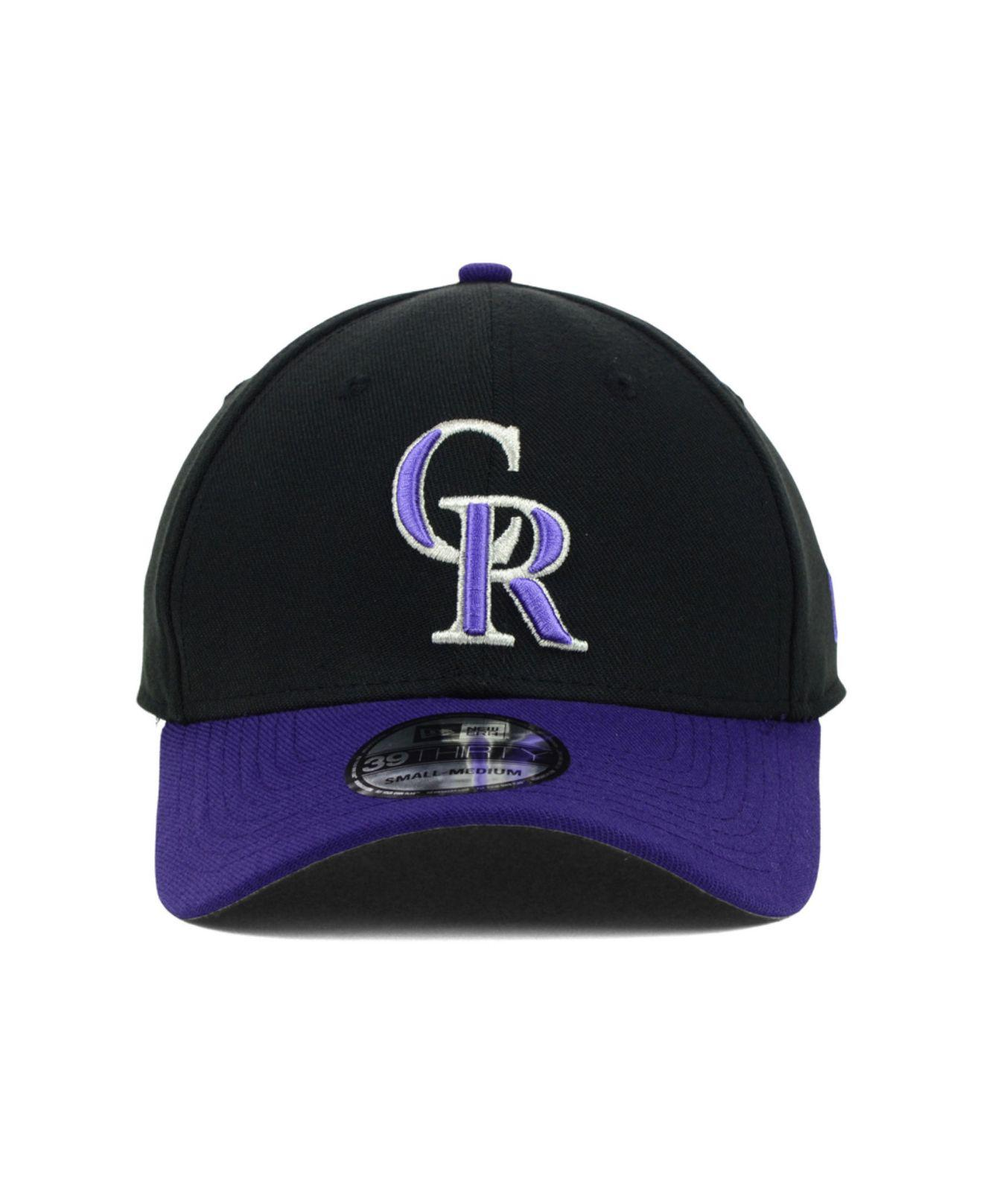 a243047a732a2 ... where to buy lyst ktz colorado rockies mlb team classic 39thirty cap in  black for men