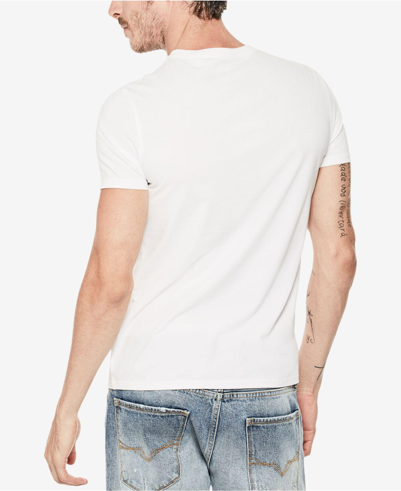 66ac9a37 Guess Classic Logo T-shirt in White for Men - Lyst