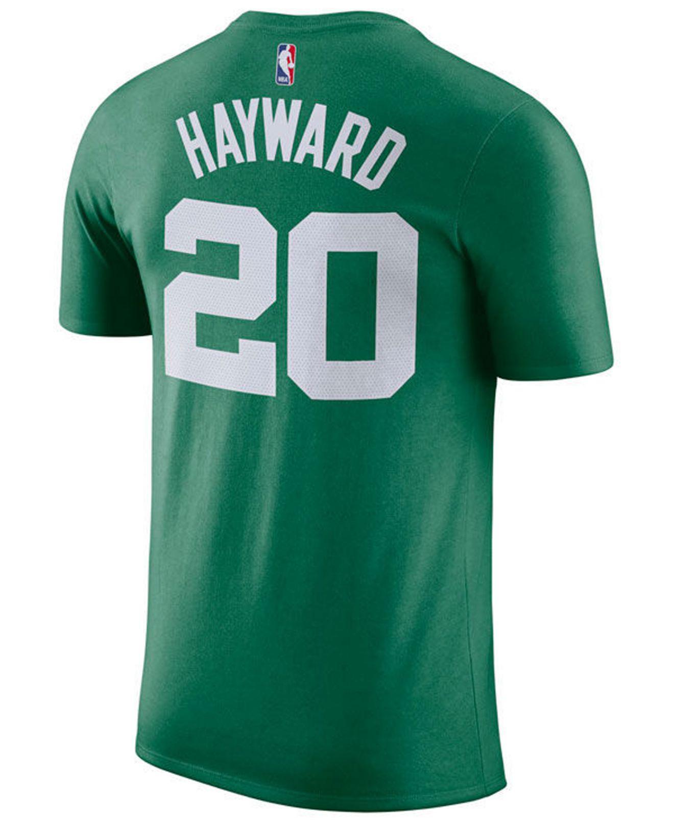 fb7a2a48d Lyst - Nike Gordon Hayward Boston Celtics Icon Player T-shirt in ...