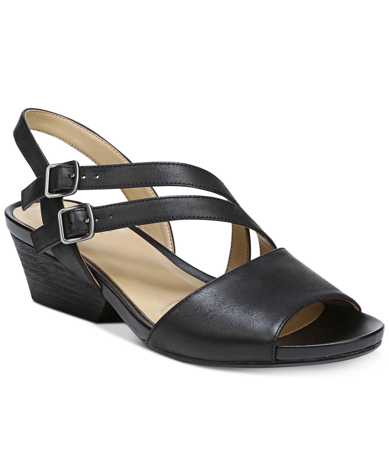 Naturalizer Davi Studded Flat Sandal(Women's) -Yellow Microfiber Popular 6v2PO