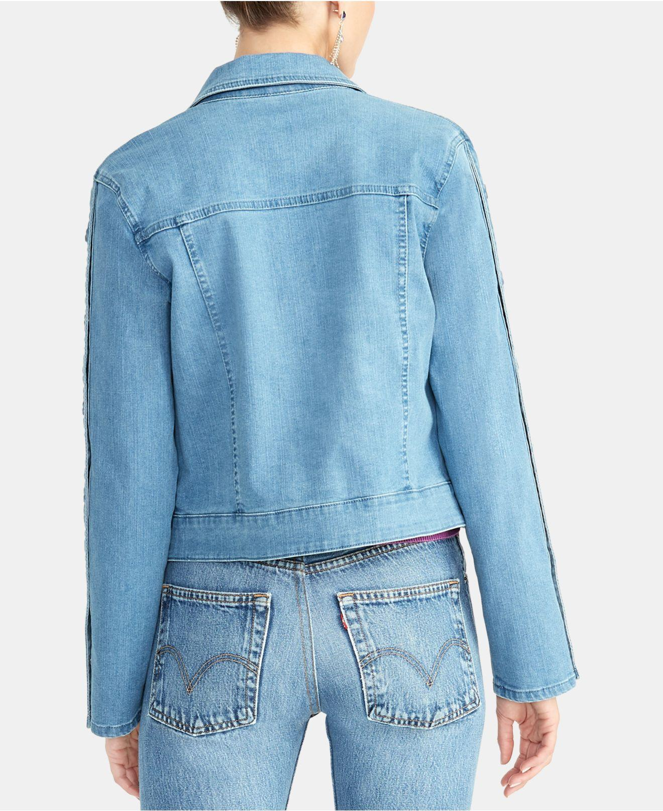 921c6954b8a6b Lyst - RACHEL Rachel Roy Bobbi Snap-sleeve Denim Jacket in Blue
