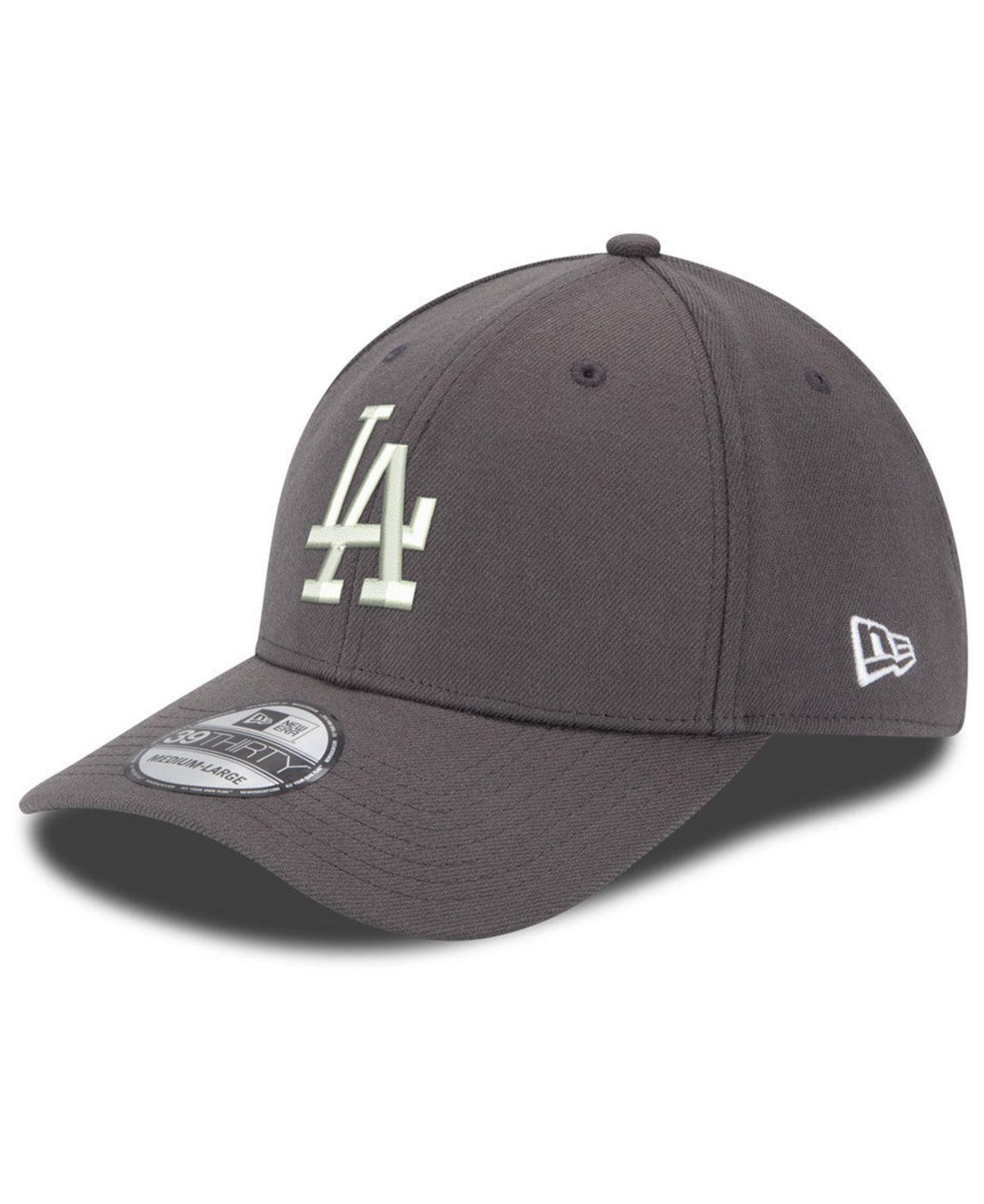 on sale abc30 7fc1c KTZ - Gray Los Angeles Dodgers Dub Classic 39thirty Stretch Fitted Cap for  Men - Lyst. View fullscreen