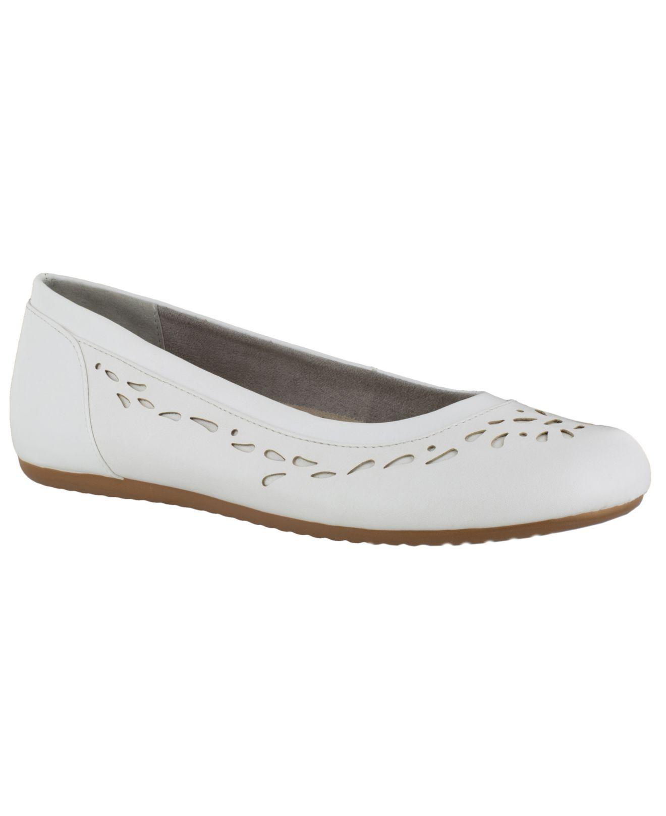 625abe88213a Lyst - Easy Street Easy Steet Bridget Ballet Flats in White