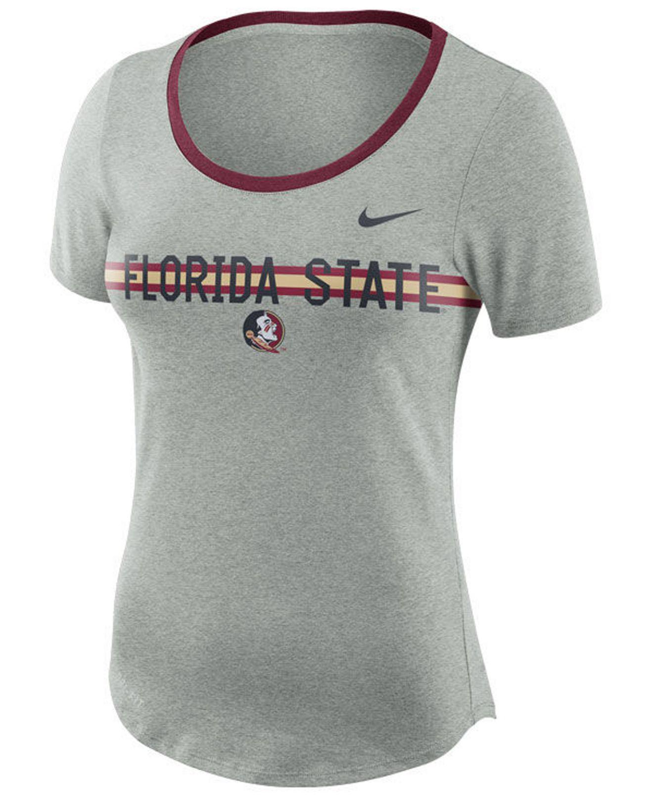 Lyst - Nike Women s Tri Blend Slub T-shirt in Gray 23e90cc82