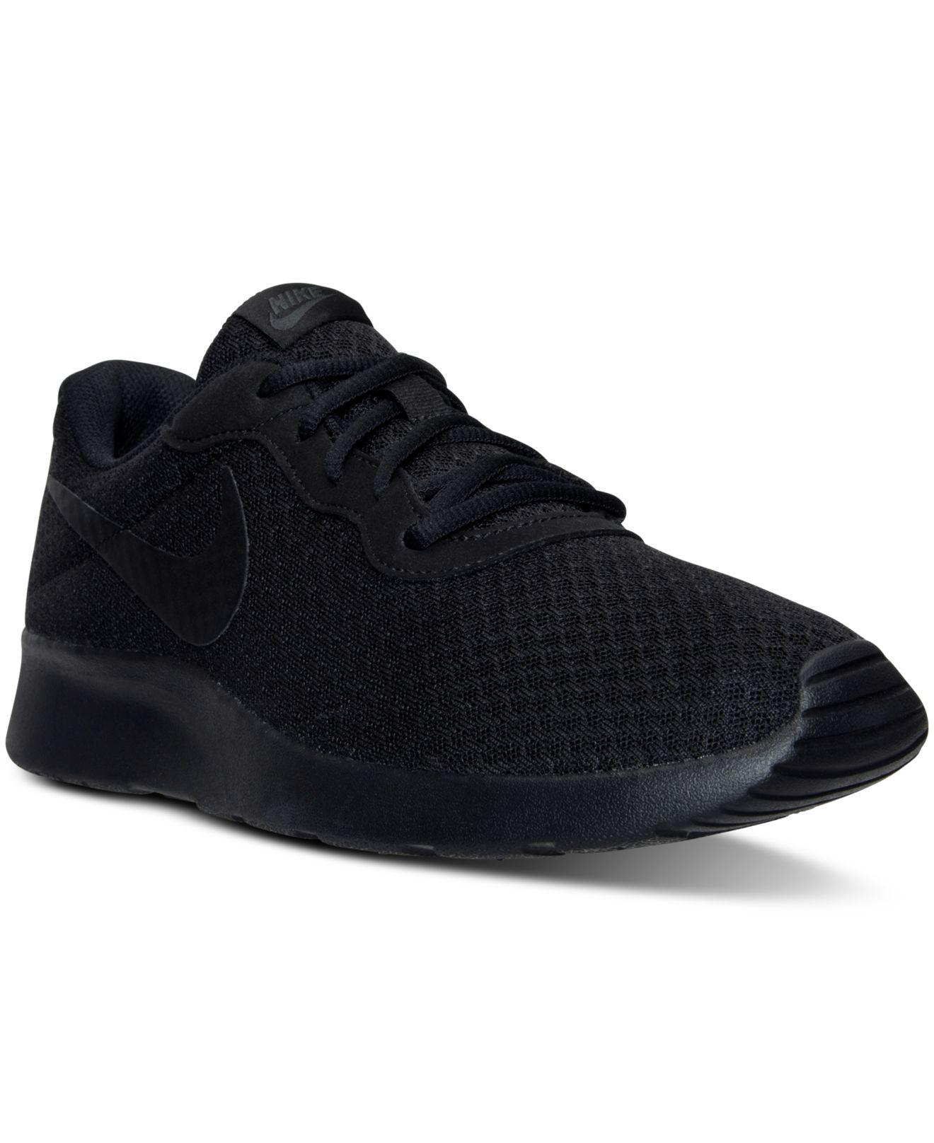 Nike. Black Men's Tanjun Casual Sneakers From Finish Line