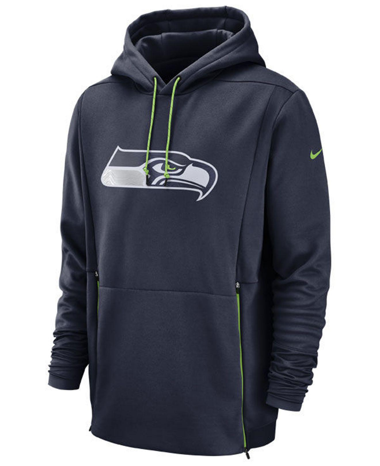 4e3c3702d Lyst - Nike Seattle Seahawks Sideline Player Therma Hoodie in Blue ...