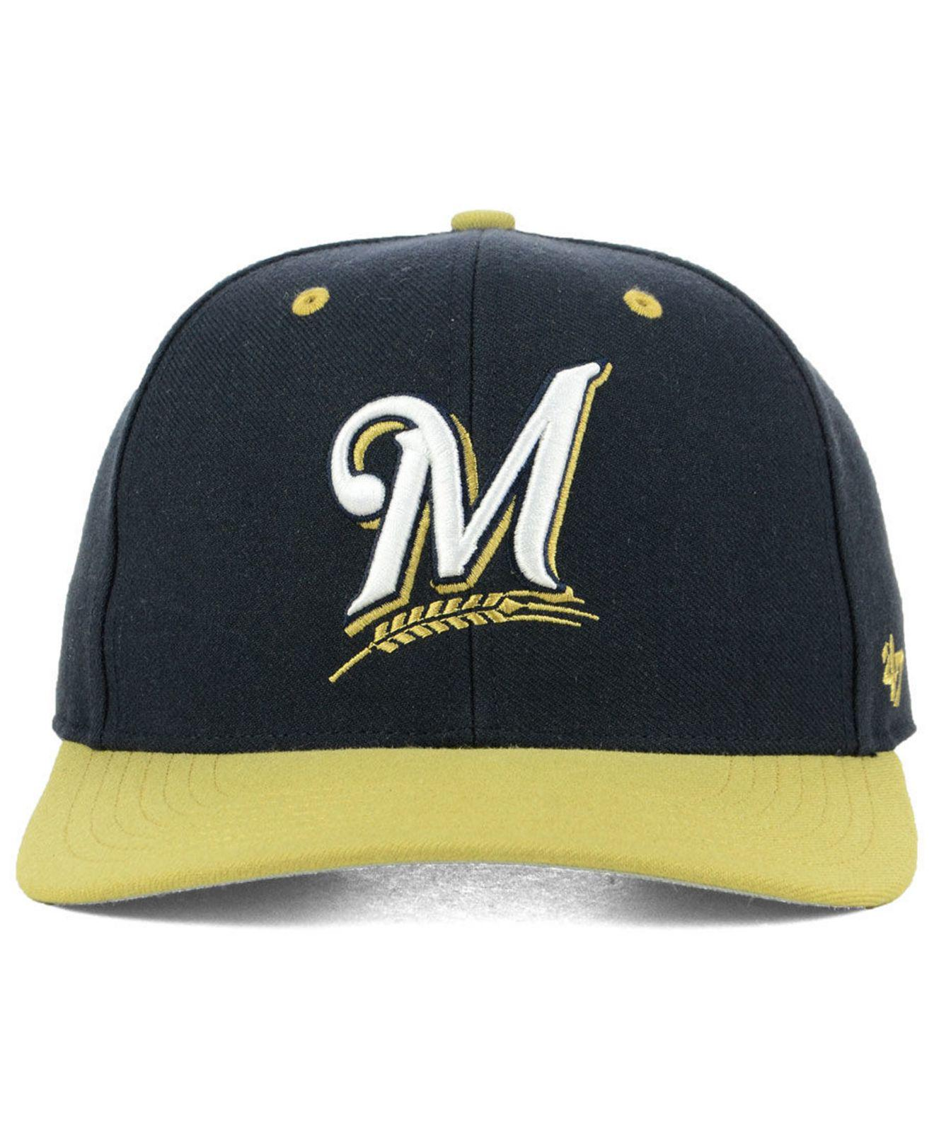 competitive price d5b15 ea0a4 ... spain lyst 47 brand milwaukee brewers 2 tone mvp cap in blue for men  5296f e43aa