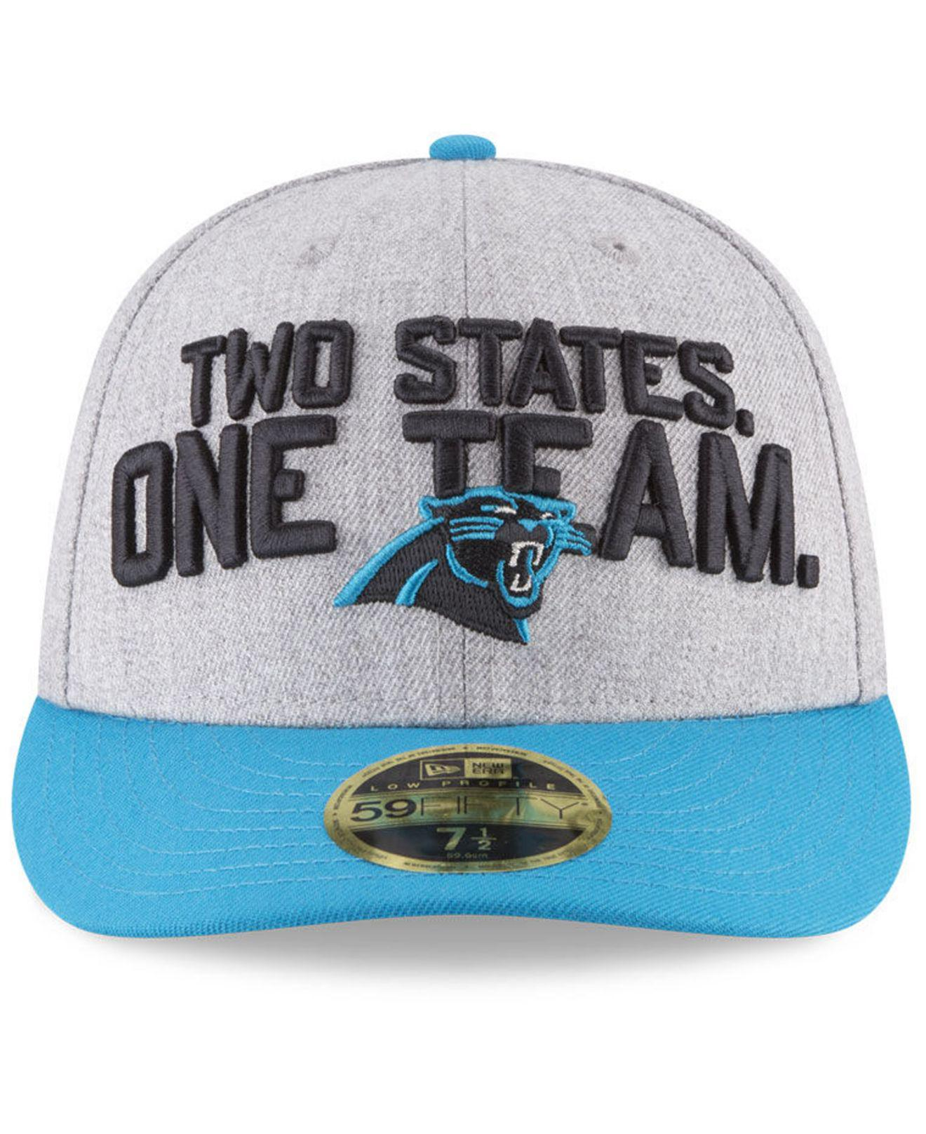 best authentic 8362f 6c1ba Lyst - KTZ Carolina Panthers Draft Low Profile 59fifty Fitted Cap for Men
