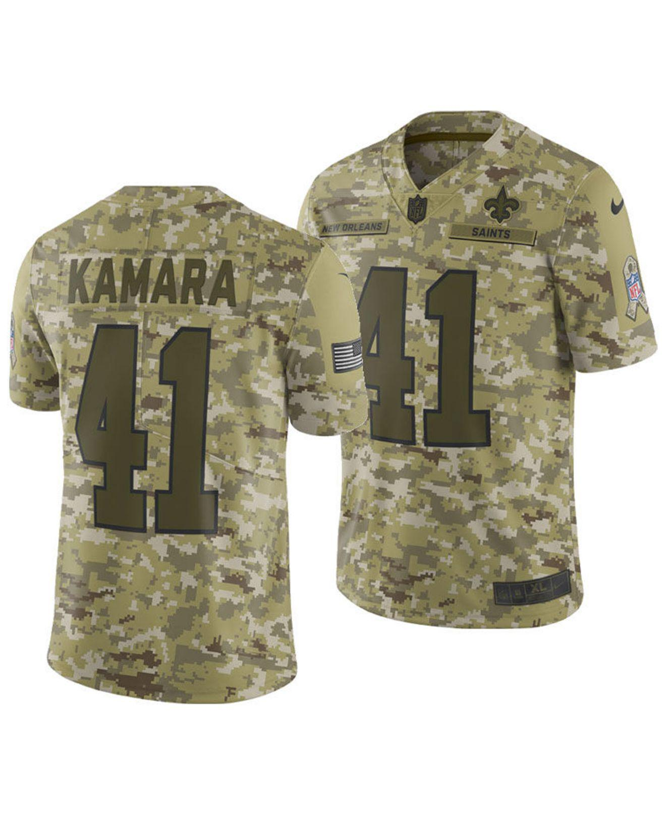 12ece59c3 Lyst - Nike Alvin Kamara New Orleans Saints Salute To Service Jersey ...