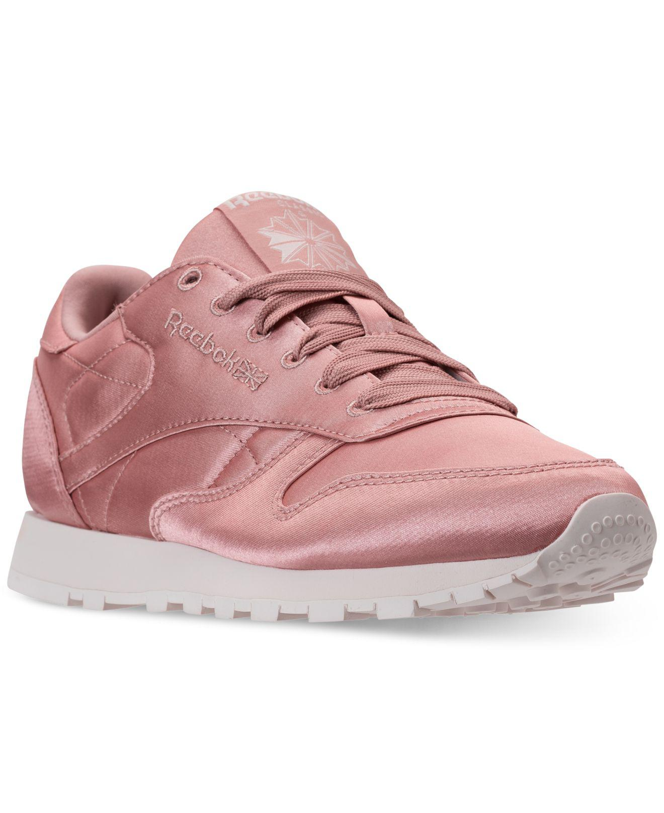 7dc38a048e6af Lyst - Reebok Classic Leather Satin Casual Sneakers From Finish Line ...