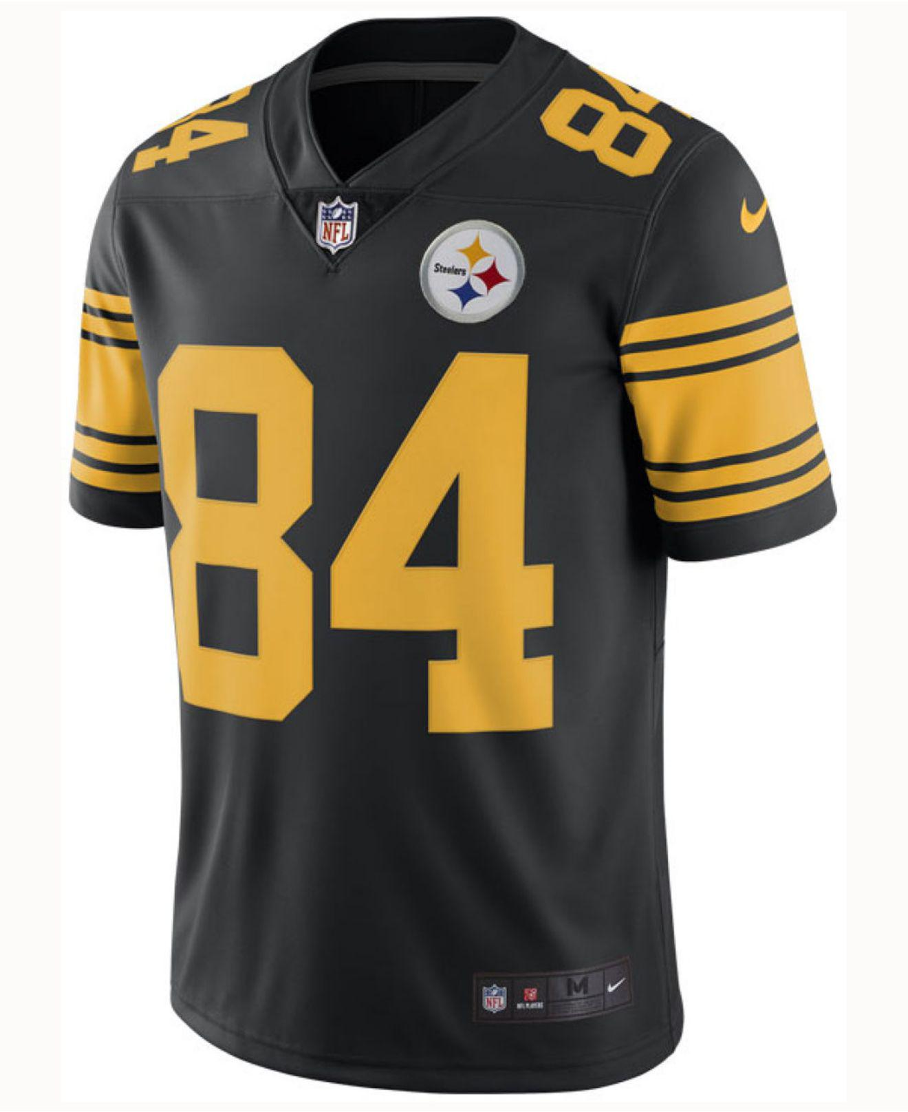 Lyst - Nike Antonio Brown Pittsburgh Steelers Limited Color Rush Jersey in  Black for Men 3bfaeed42