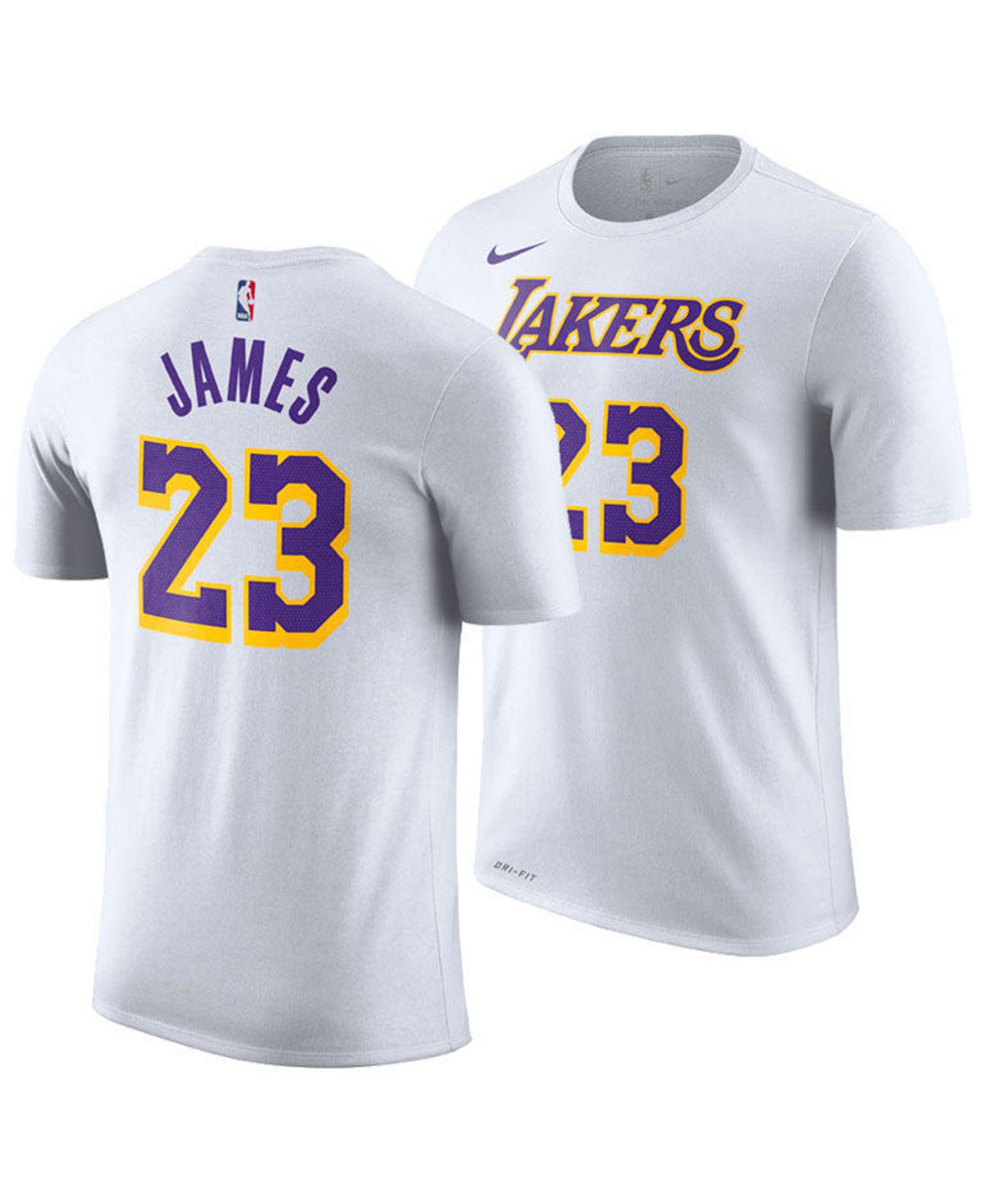 c2a4bb5897933 Lyst - Nike Lebron James Los Angeles Lakers Icon Player T-shirt in ...