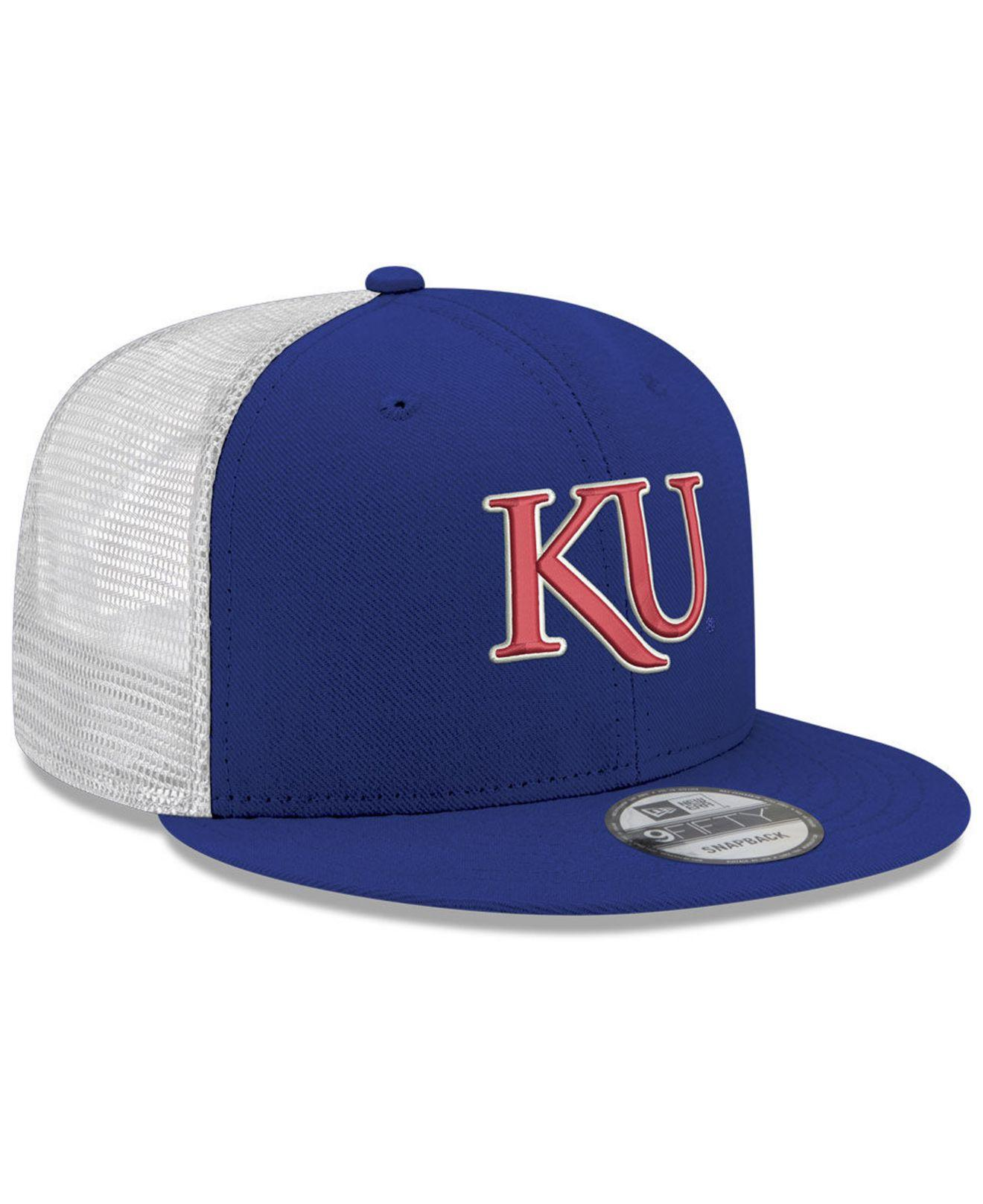 71875abc93f ... Kansas Jayhawks Tc Meshback Snapback Cap for Men - Lyst. View fullscreen
