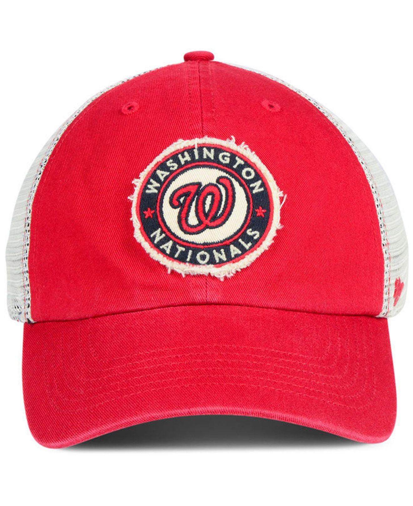 size 40 c52bb 09e44 ... italy lyst 47 brand washington nationals tally closer stretch fitted cap  in red for men f87b5