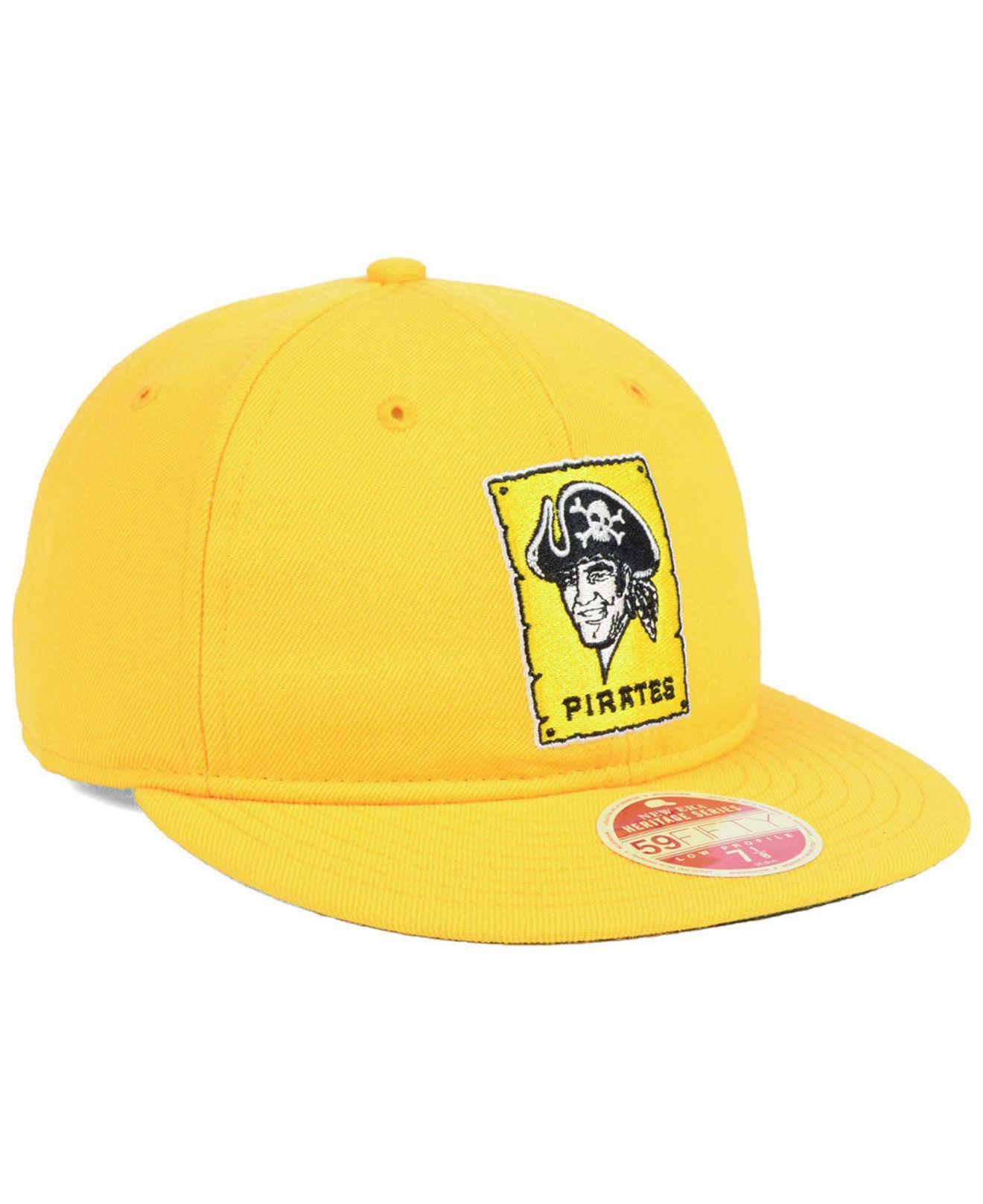buy online aaa2c a0968 KTZ - Metallic Pittsburgh Pirates Heritage Retro Classic 59fifty Fitted Cap  for Men - Lyst. View fullscreen
