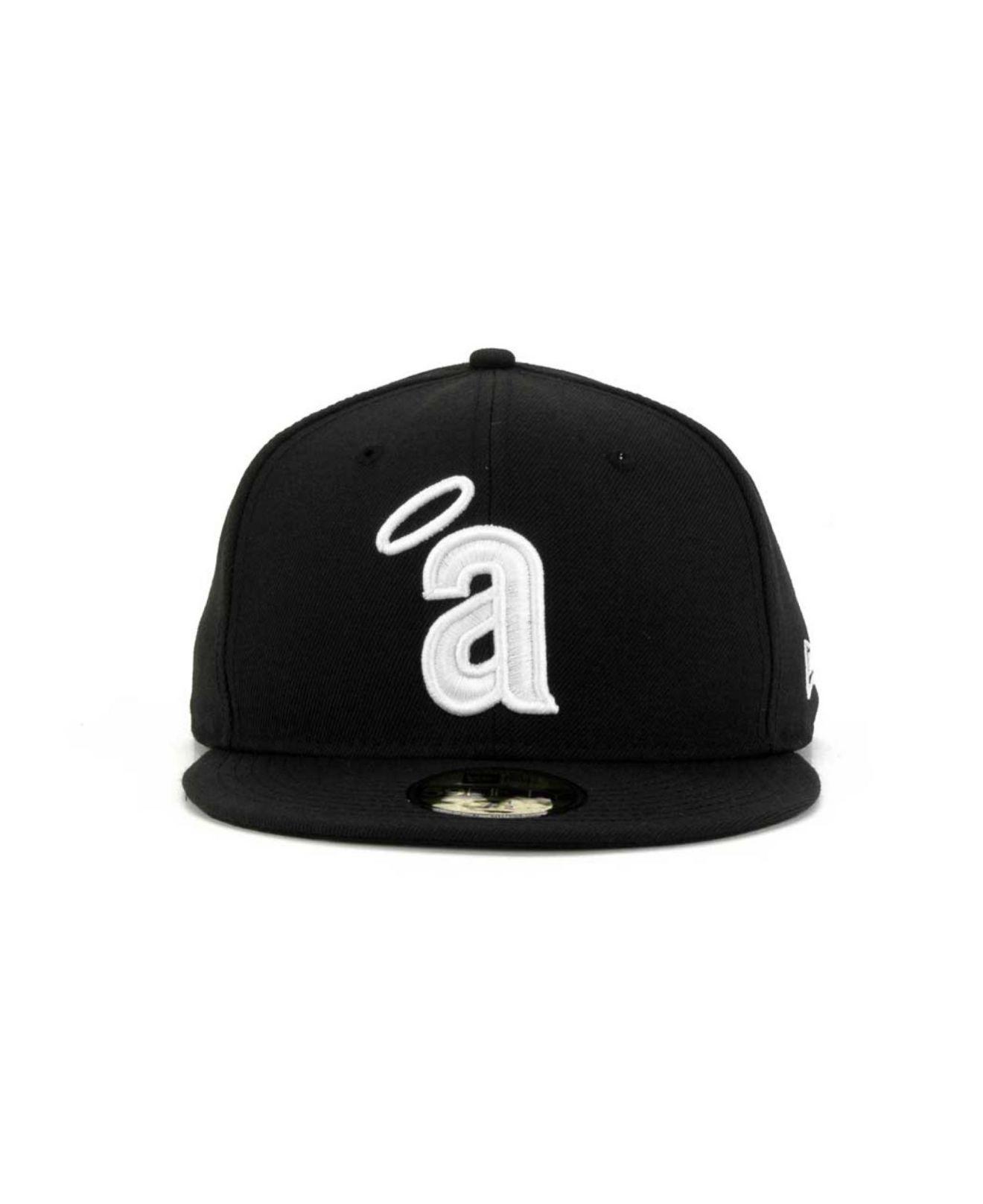the latest 30d97 aeaee KTZ - Black Los Angeles Angels Of Anaheim B-dub 59fifty Cap for Men -. View  fullscreen