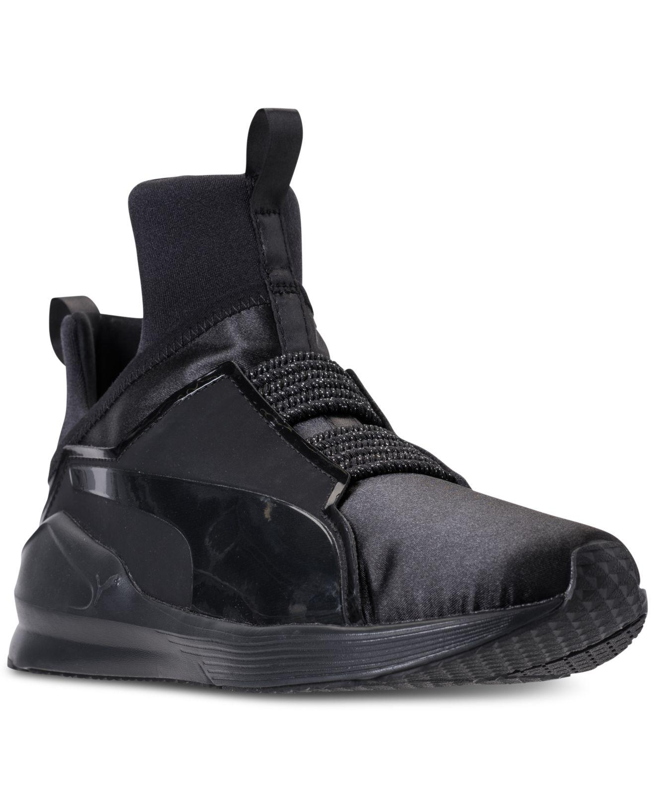 Lyst - Puma Fierce Satin Ep Casual Sneakers From Finish Line in Black ca58ad22a