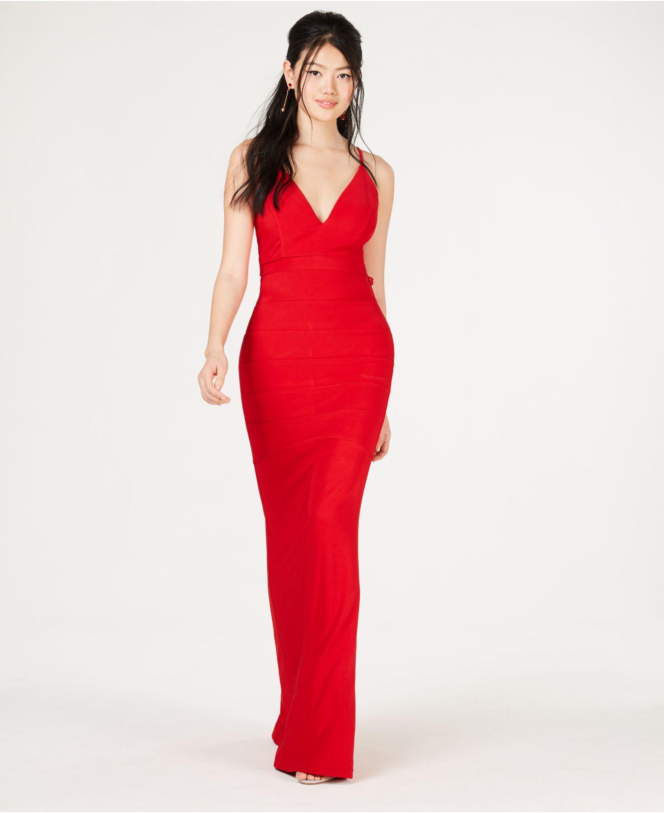 1c1f563b254 Emerald Sundae Juniors  Lace-racerback Gown in Red - Lyst