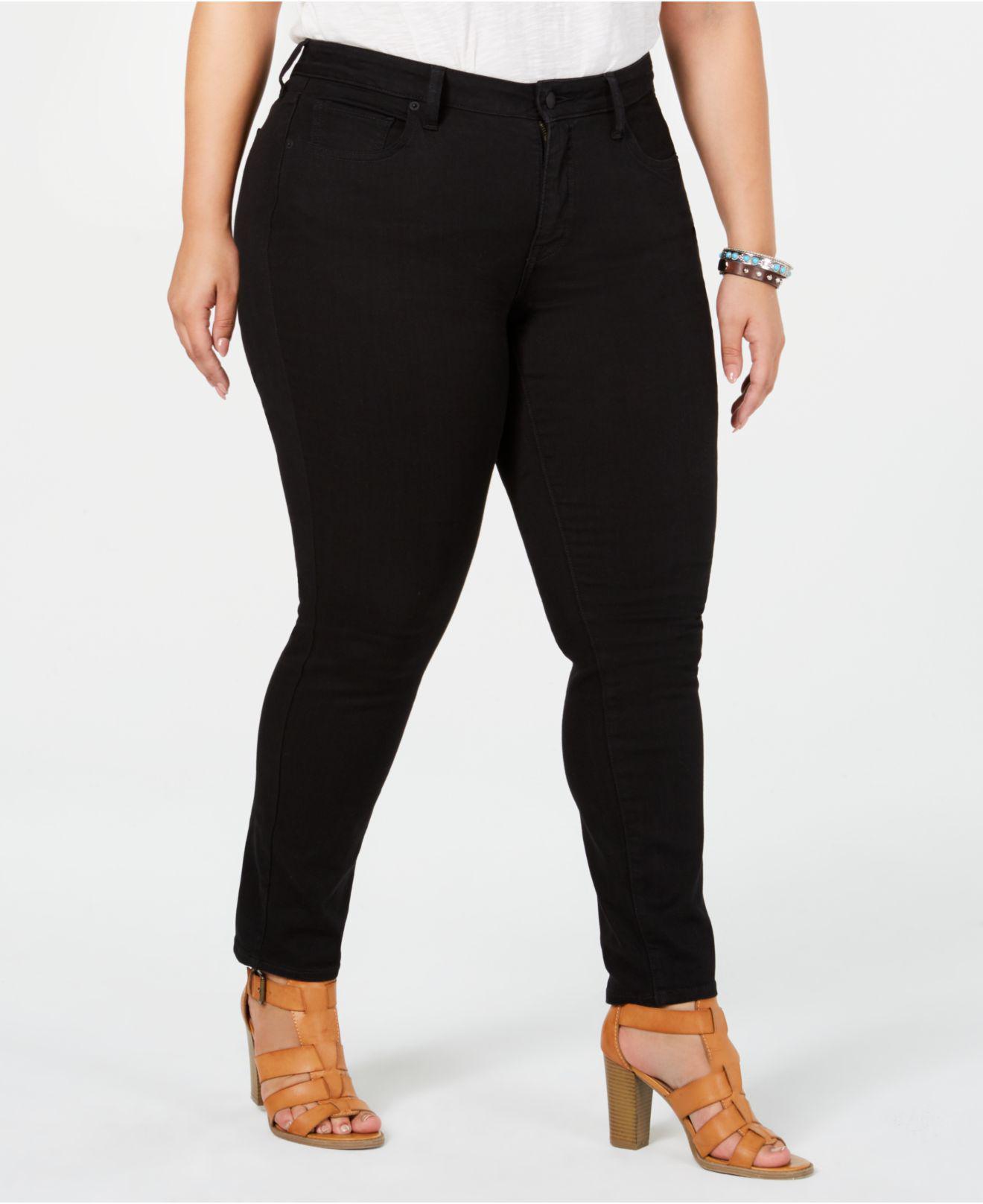bdebcc4c78ddb Lyst - Lucky Brand Trendy Plus Size Lolita Skinny Jeans in Black