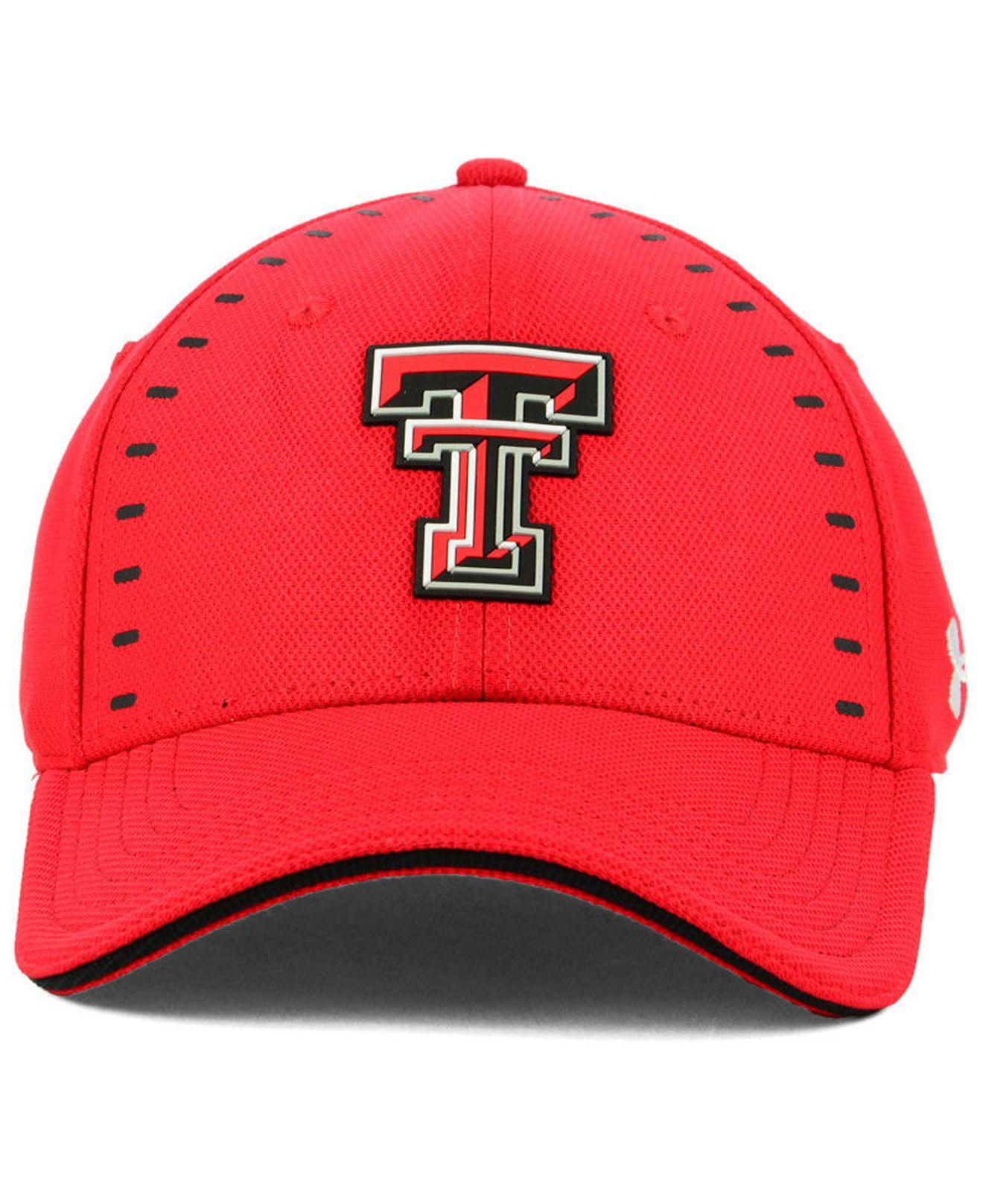 86817e0edfb ... discount code for lyst under armour texas tech red raiders blitzing flex  stretch fitted cap in ...