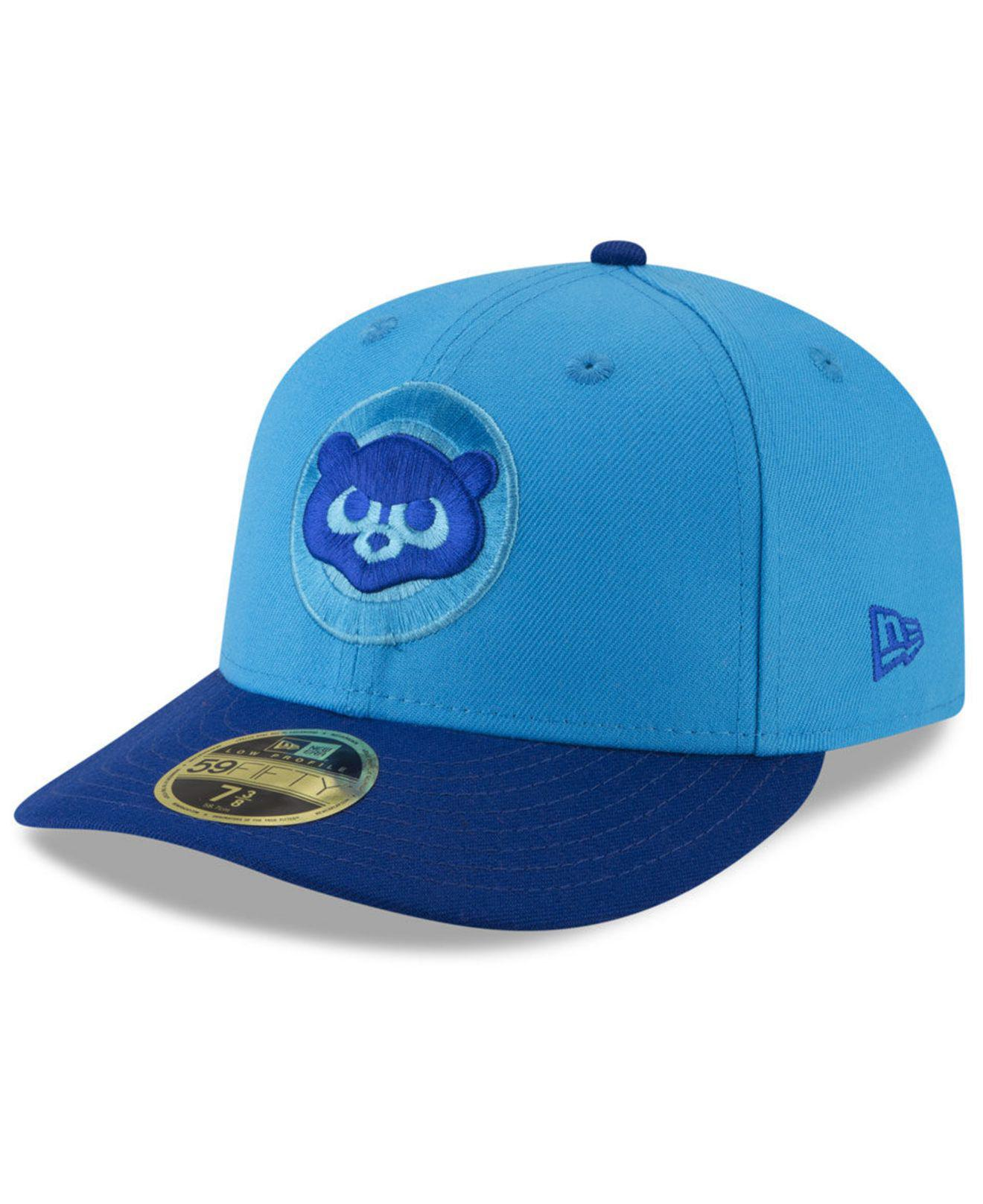 5d9071810c5 KTZ. Men s Blue Chicago Cubs Players Weekend Low Profile 59fifty Fitted Cap
