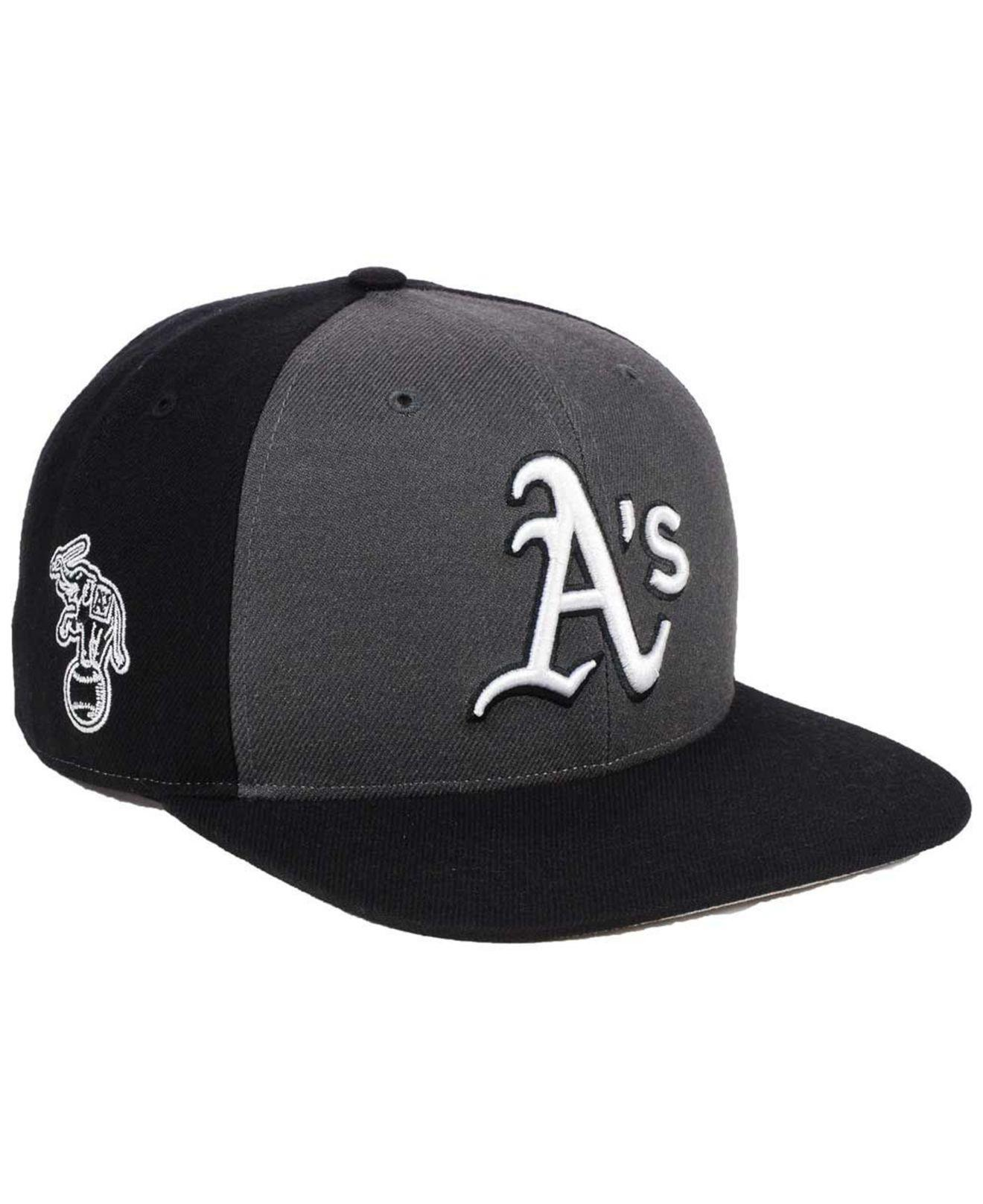 newest c4445 6f736 ... france 47 brand oakland athletics black sure shot accent snapback cap  for men lyst. view