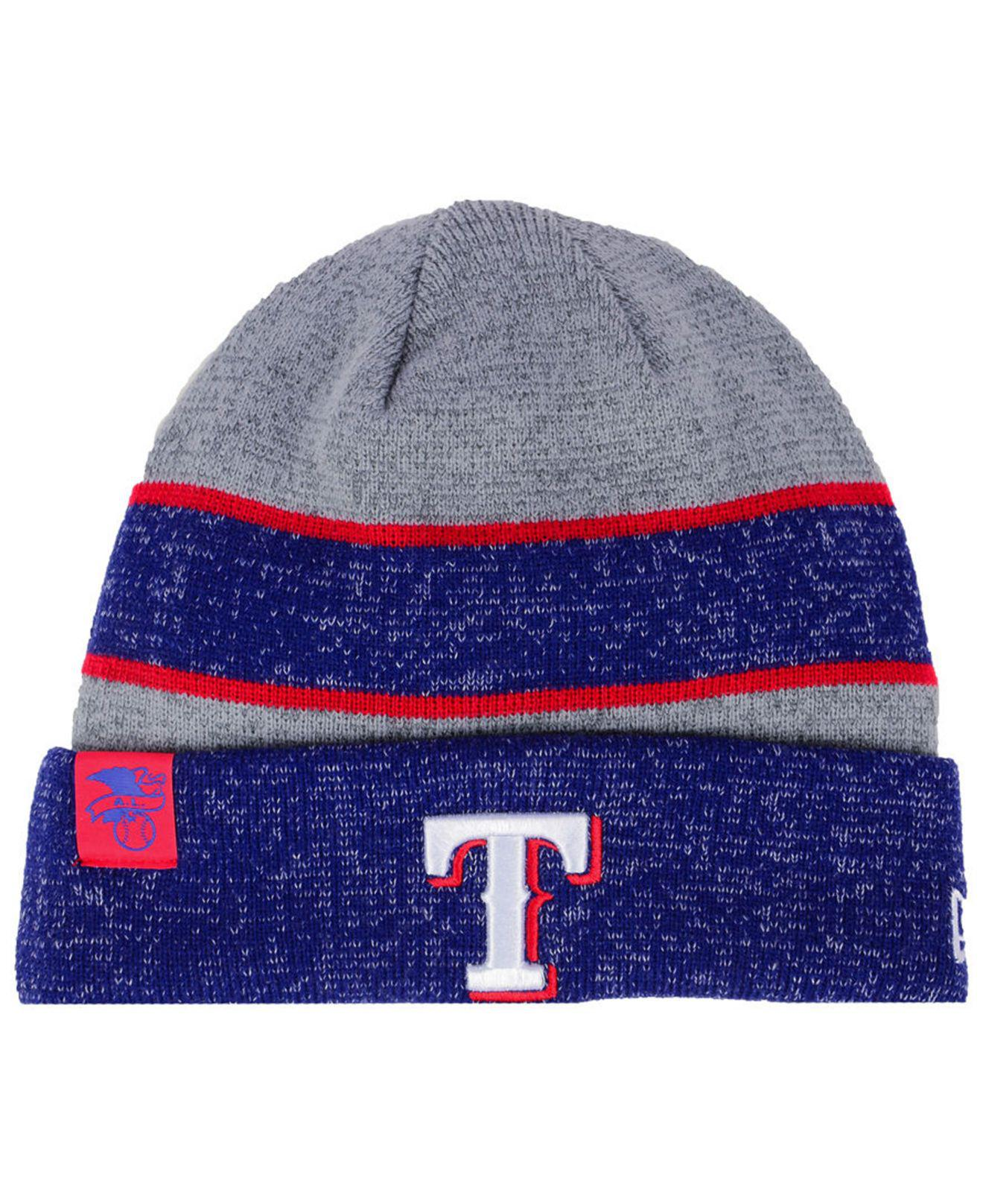 half off c3425 6aa13 germany texas rangers knit pom beanie with cuff hat cap e2e97 58b63  usa  ktz. mens texas rangers on field sport knit hat 91d99 916bb