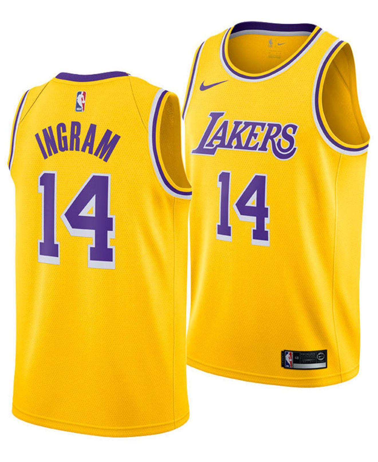 affdf4e6232 Nike. Men s Yellow Brandon Ingram Los Angeles Lakers Icon Swingman Jersey
