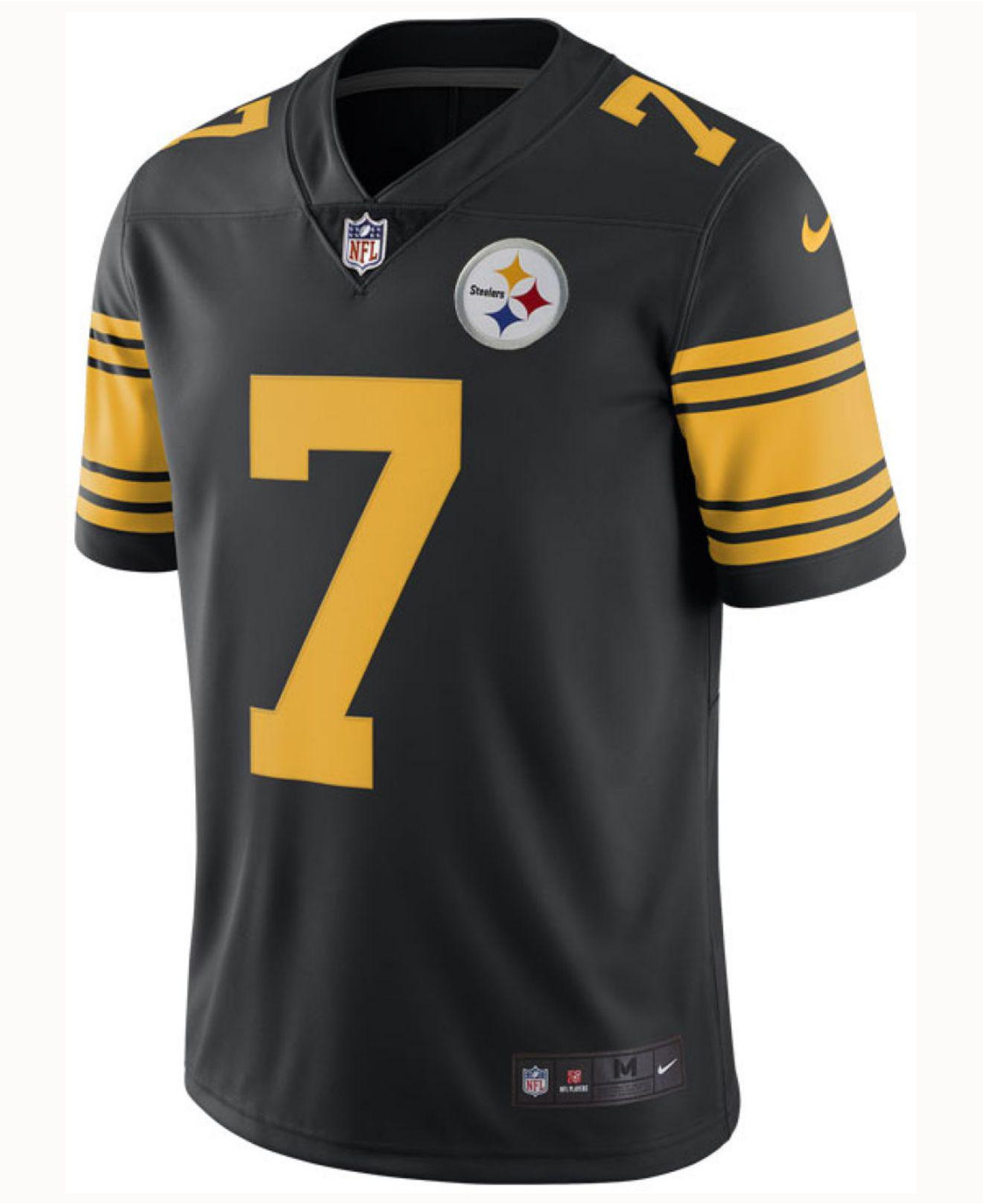 2b33009ed ... authentic lyst nike ben roethlisberger pittsburgh steelers limited color  rush jersey in black for men d733c