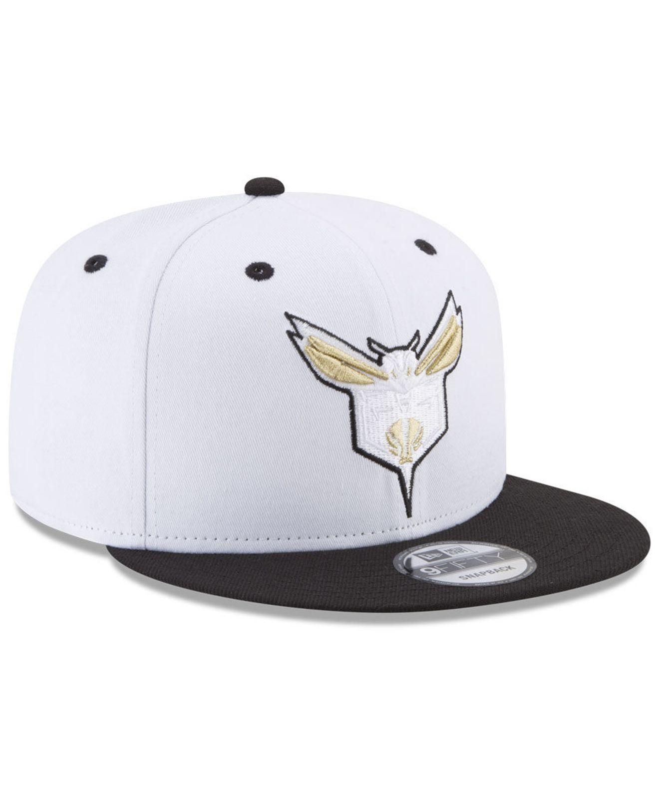 huge discount 57cfd 330a1 KTZ - White Charlotte Hornets Double Twist 9fifty Snapback Cap for Men -  Lyst. View fullscreen