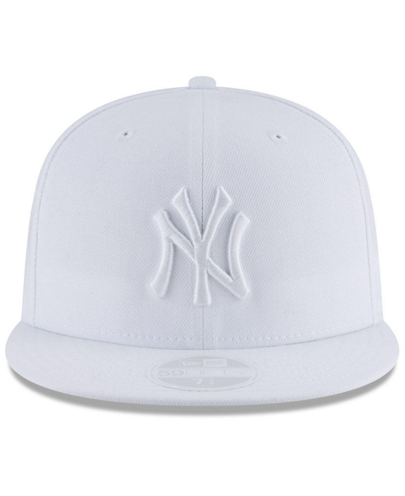 Lyst - KTZ New York Yankees White Out 59fifty Fitted Cap in White for Men af5e7c4e3b27