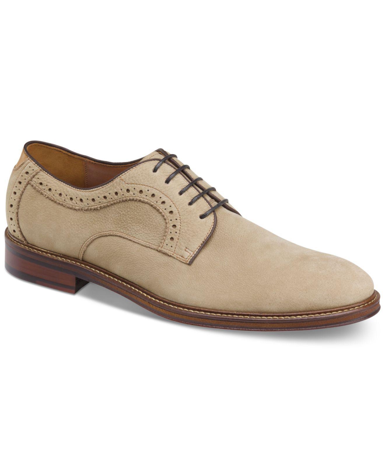 Johnston & Murphy Men's Warner Plain-Toe Lace-Up Oxfords Men's Shoes GzZYSK2v56